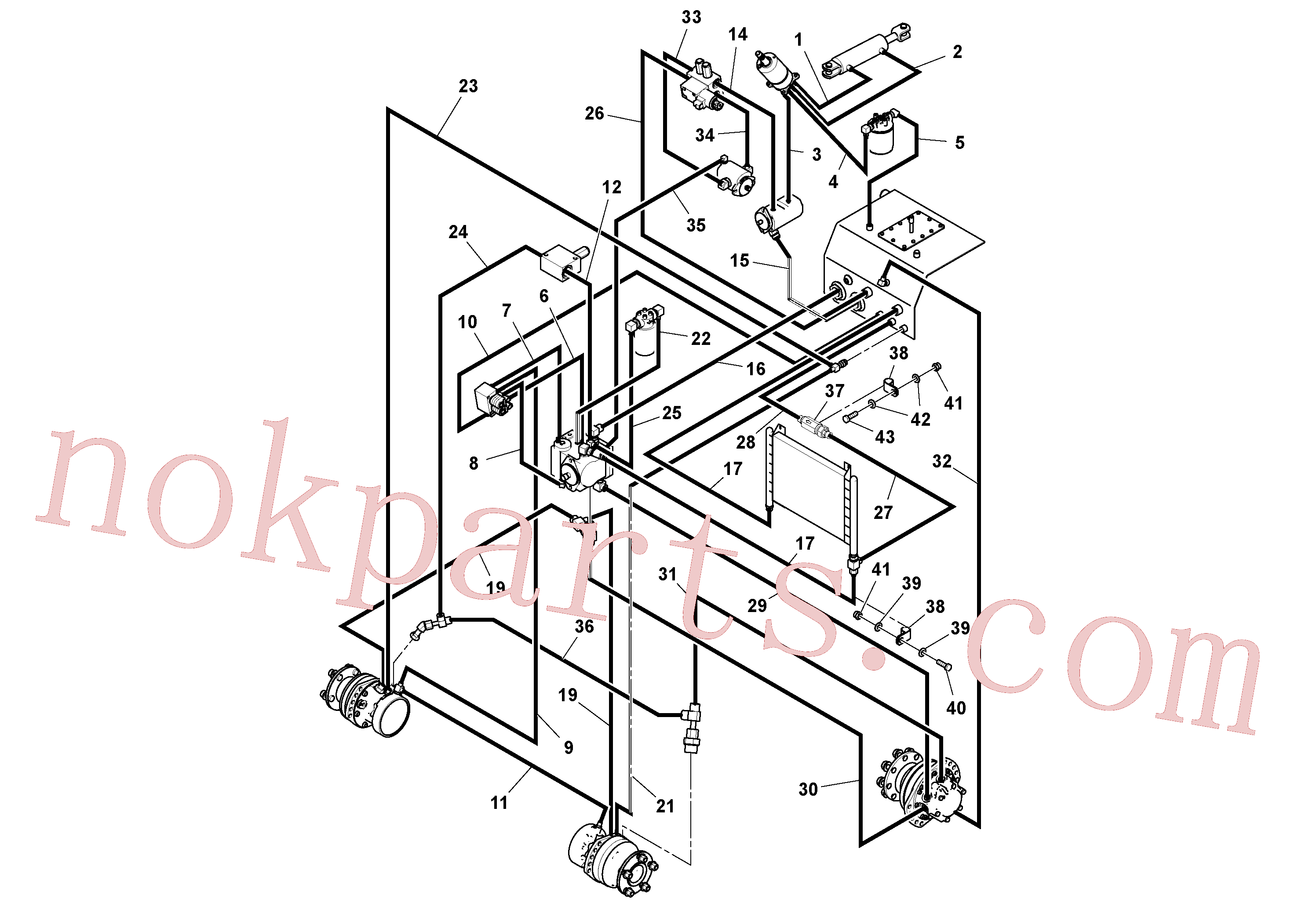 RM13365226 for Volvo Rear Frame Hoses Installation(1037921 assembly)