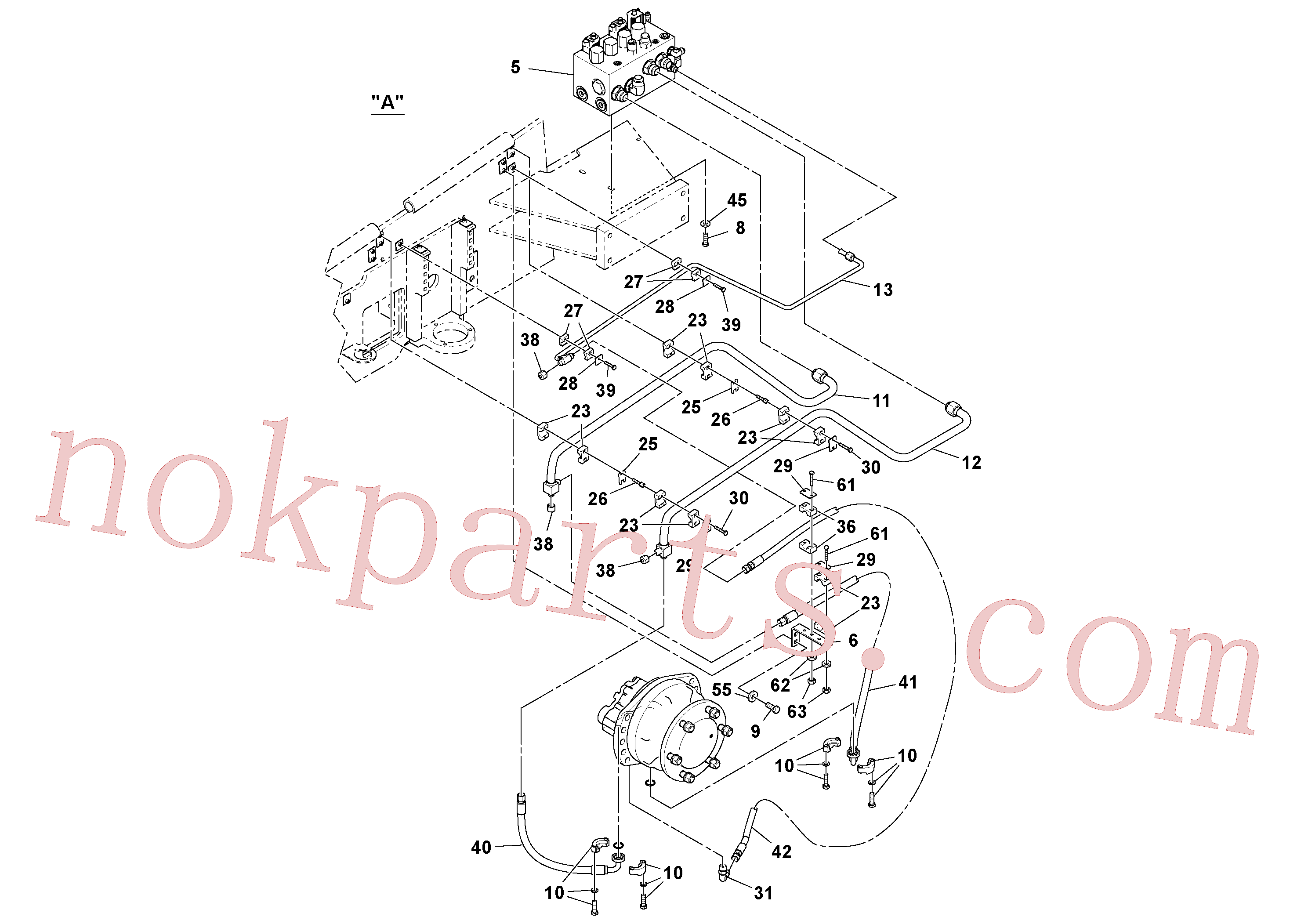 VOE14015095 for Volvo Fwa Hydraulic Installation(1038471 assembly)