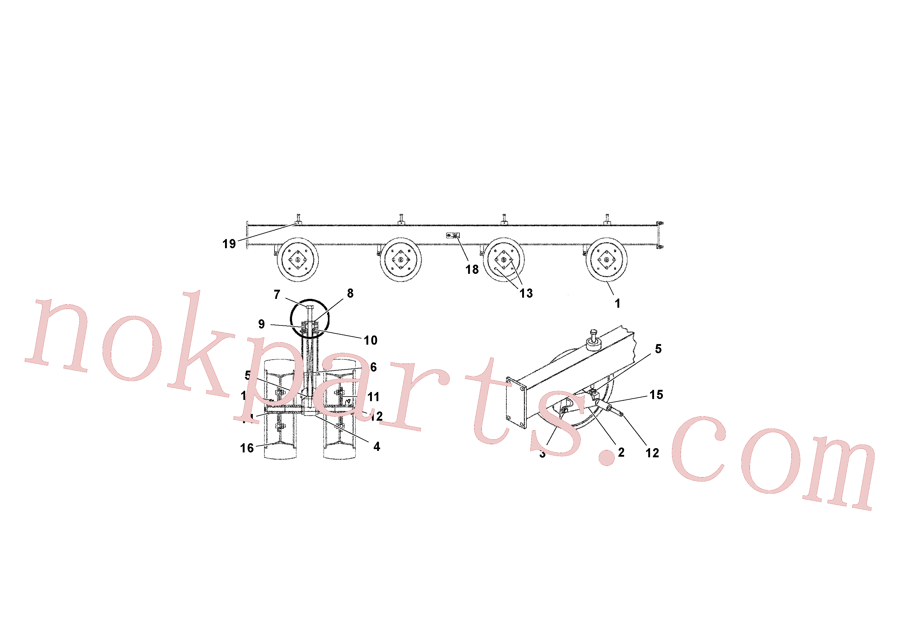 RM95929782 for Volvo Wheeled Beam(1039580 assembly)