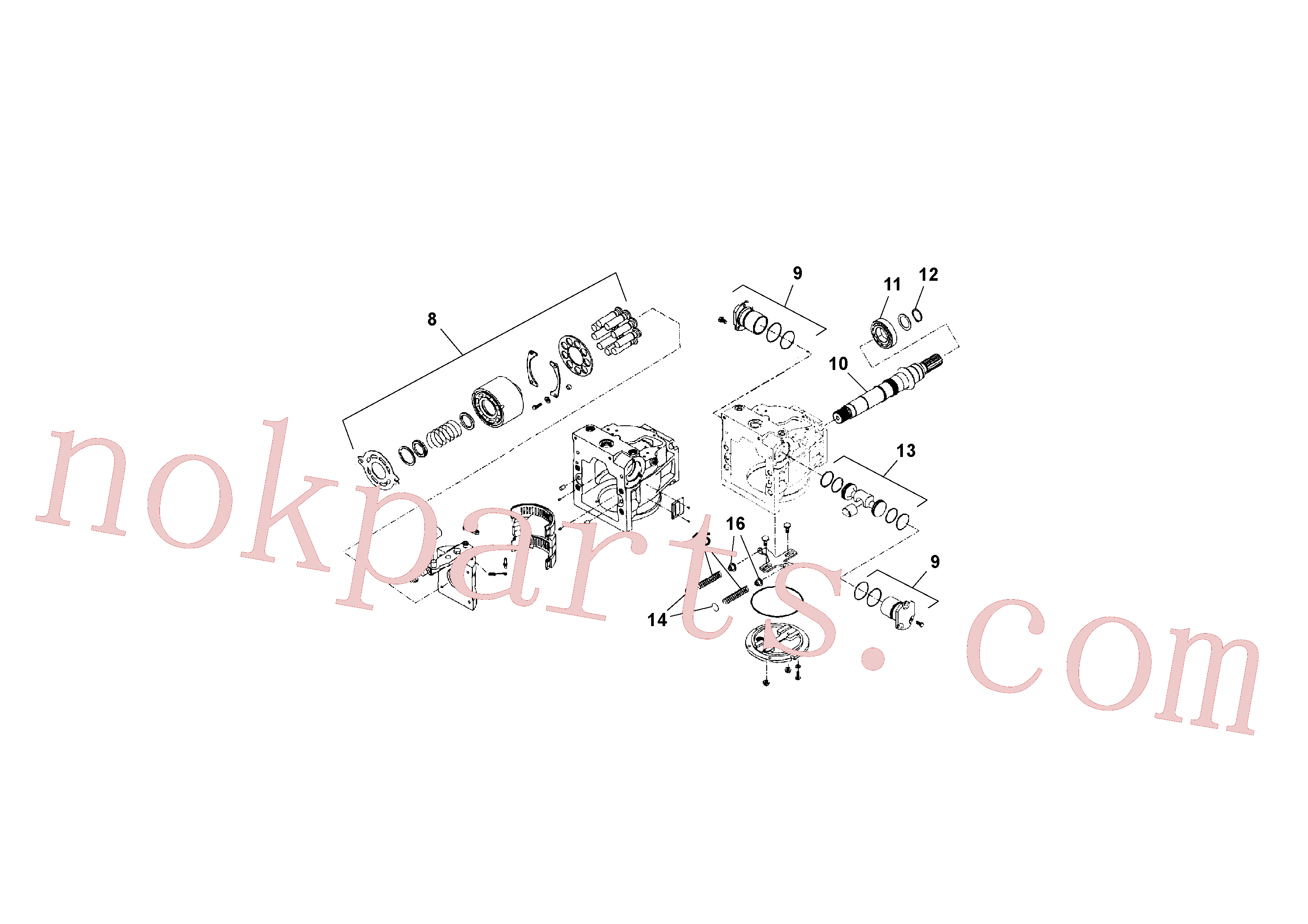 RM13792973 for Volvo Traction Drive Tandem Pump(1041187 assembly)