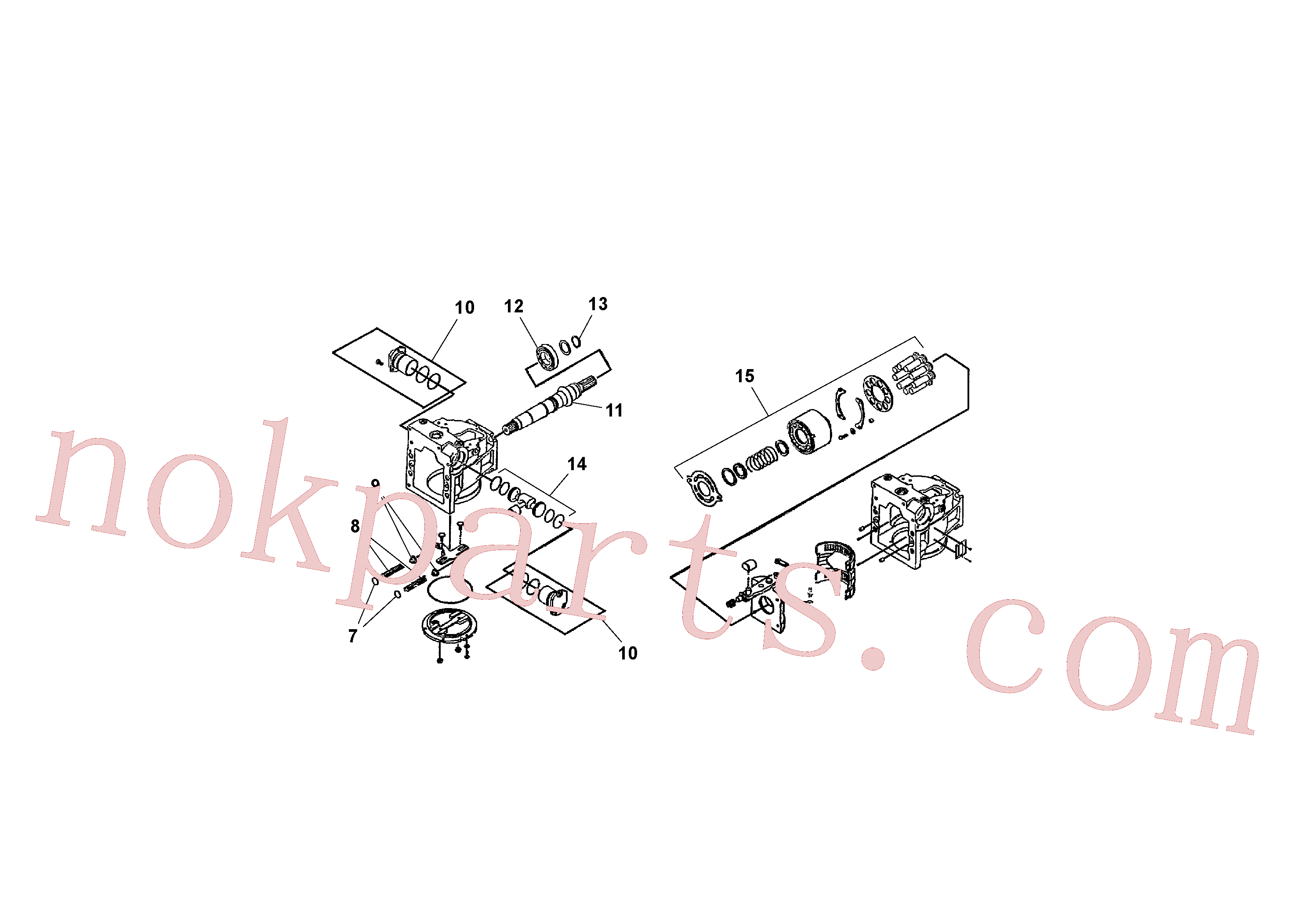RM13792973 for Volvo Traction Drive Pump Assembly(1041388 assembly)
