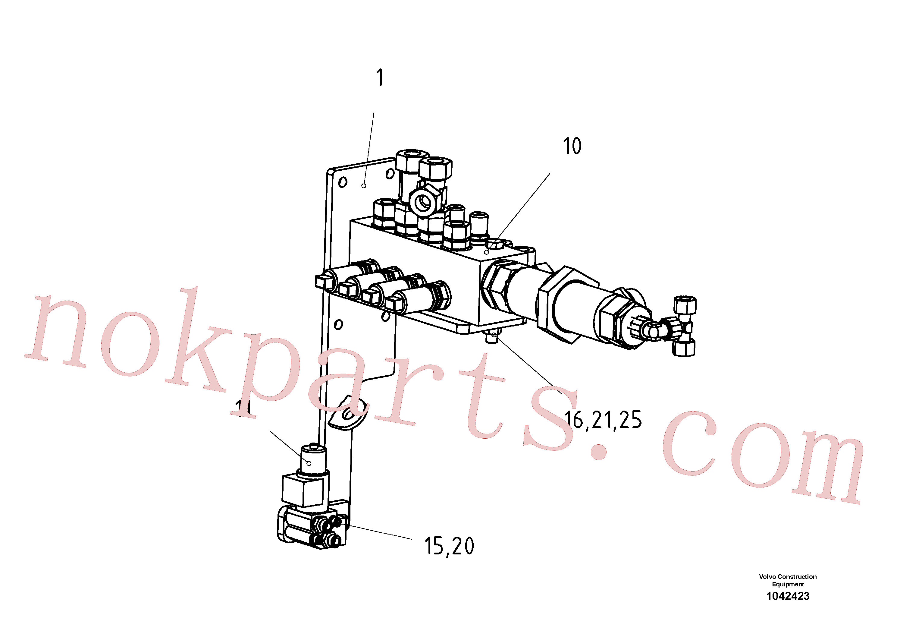 RM96721519 for Volvo Support Valve Block(1042423 assembly)