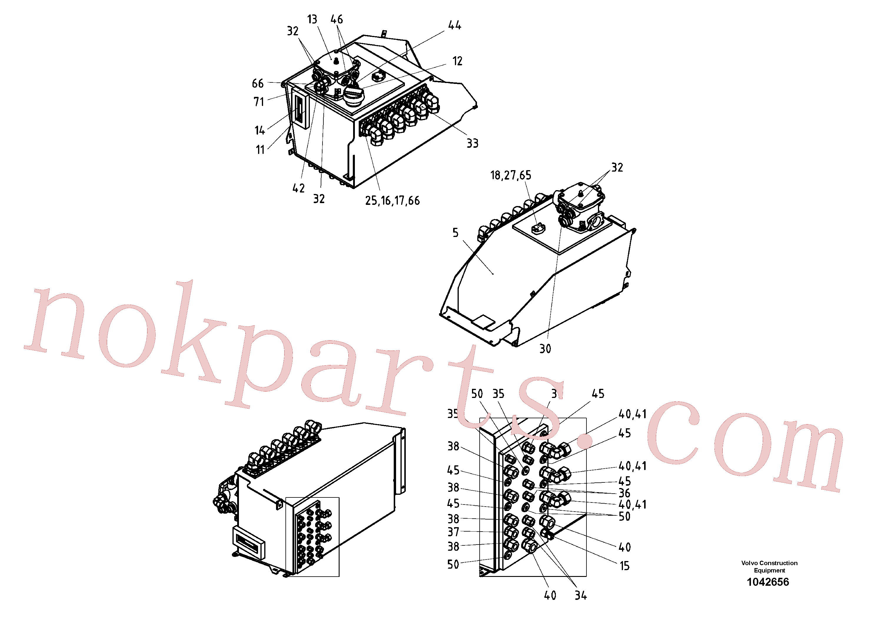 RM14280432 for Volvo Oil tank Pre-assembled(1042656 assembly)