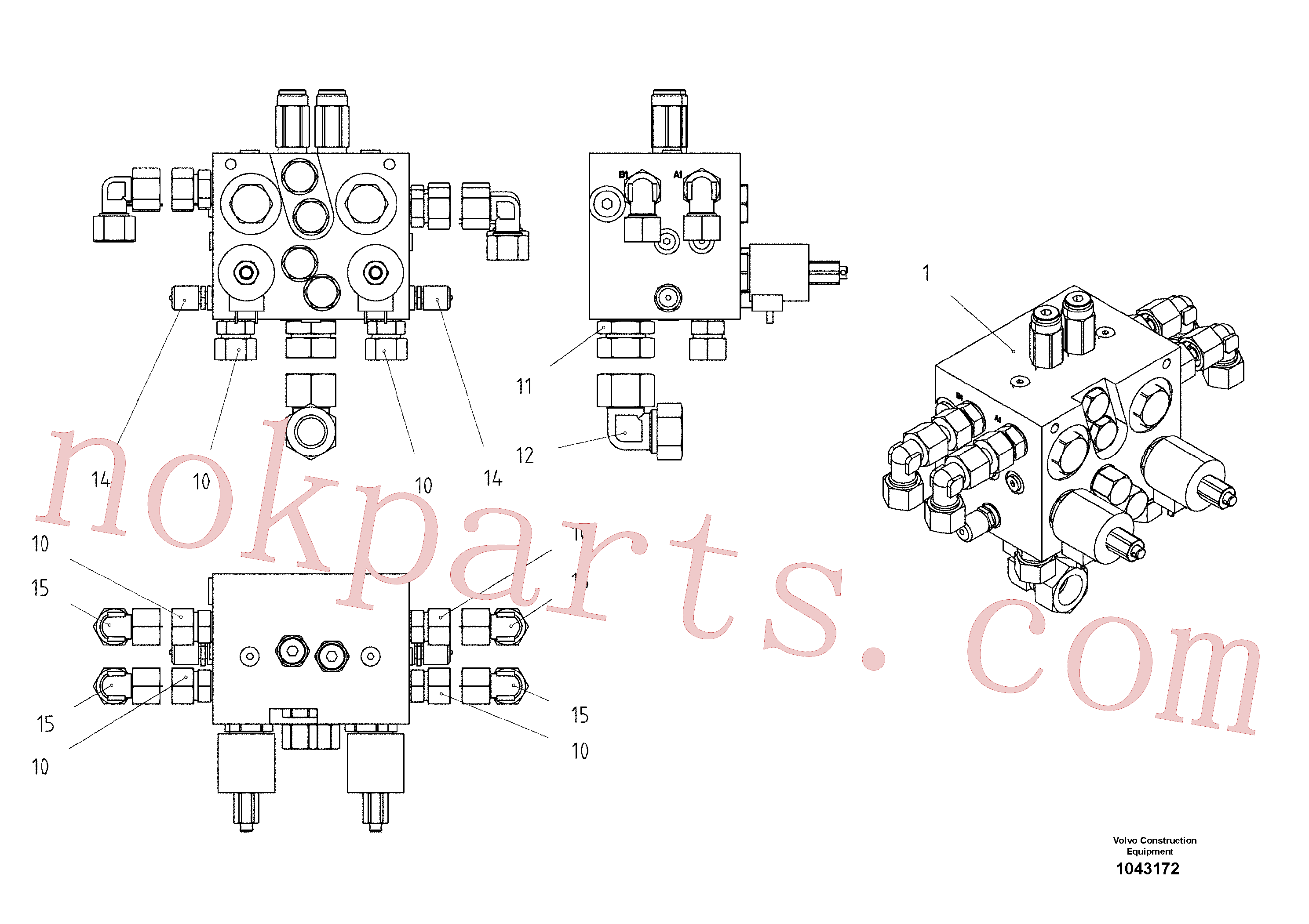 RM14103535 for Volvo Valve block(1043172 assembly)