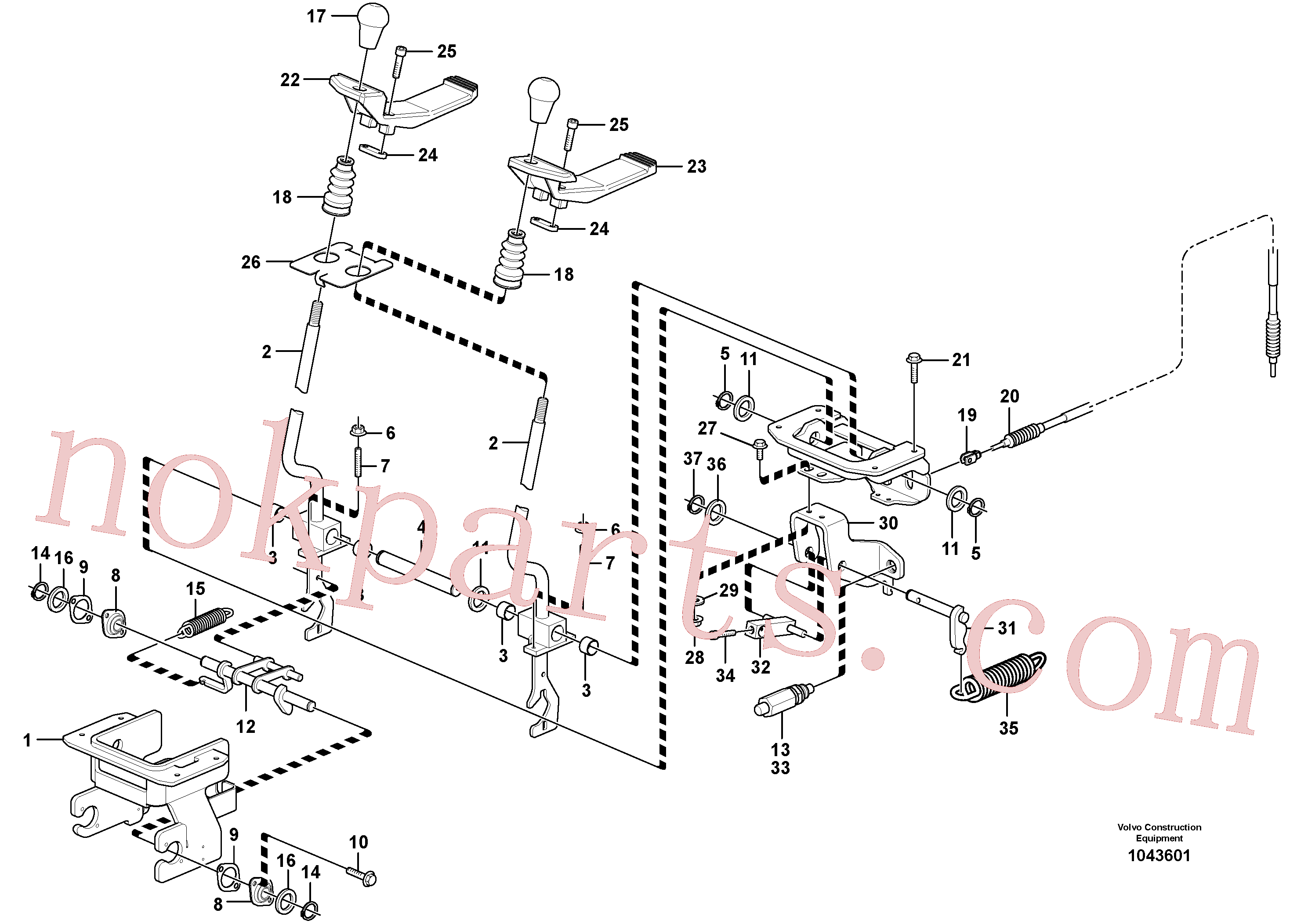 VOE11803169 for Volvo Control levers : travelling(1043601 assembly)