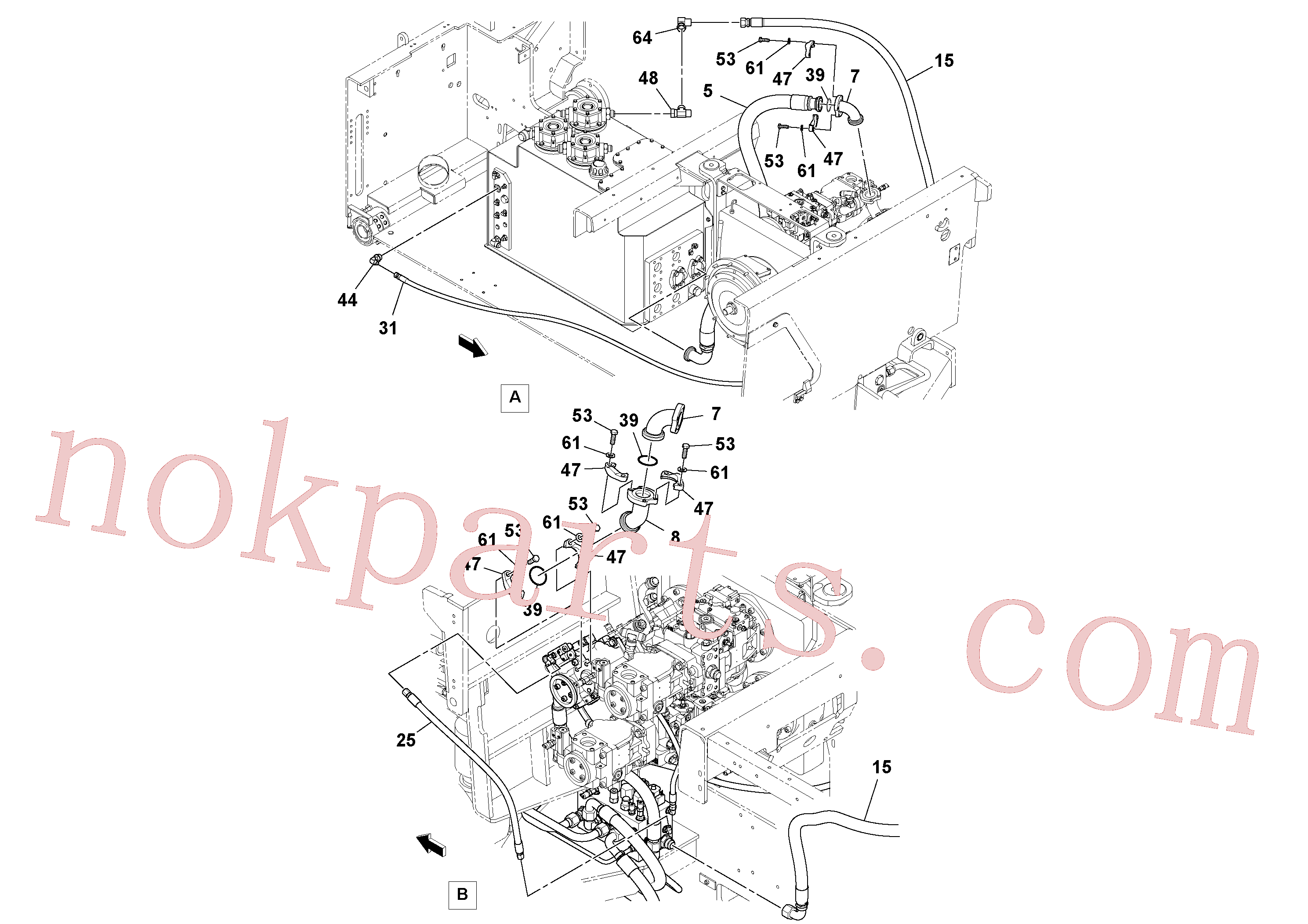 RM96734272 for Volvo Fwa Hydraulic Installation(1044612 assembly)