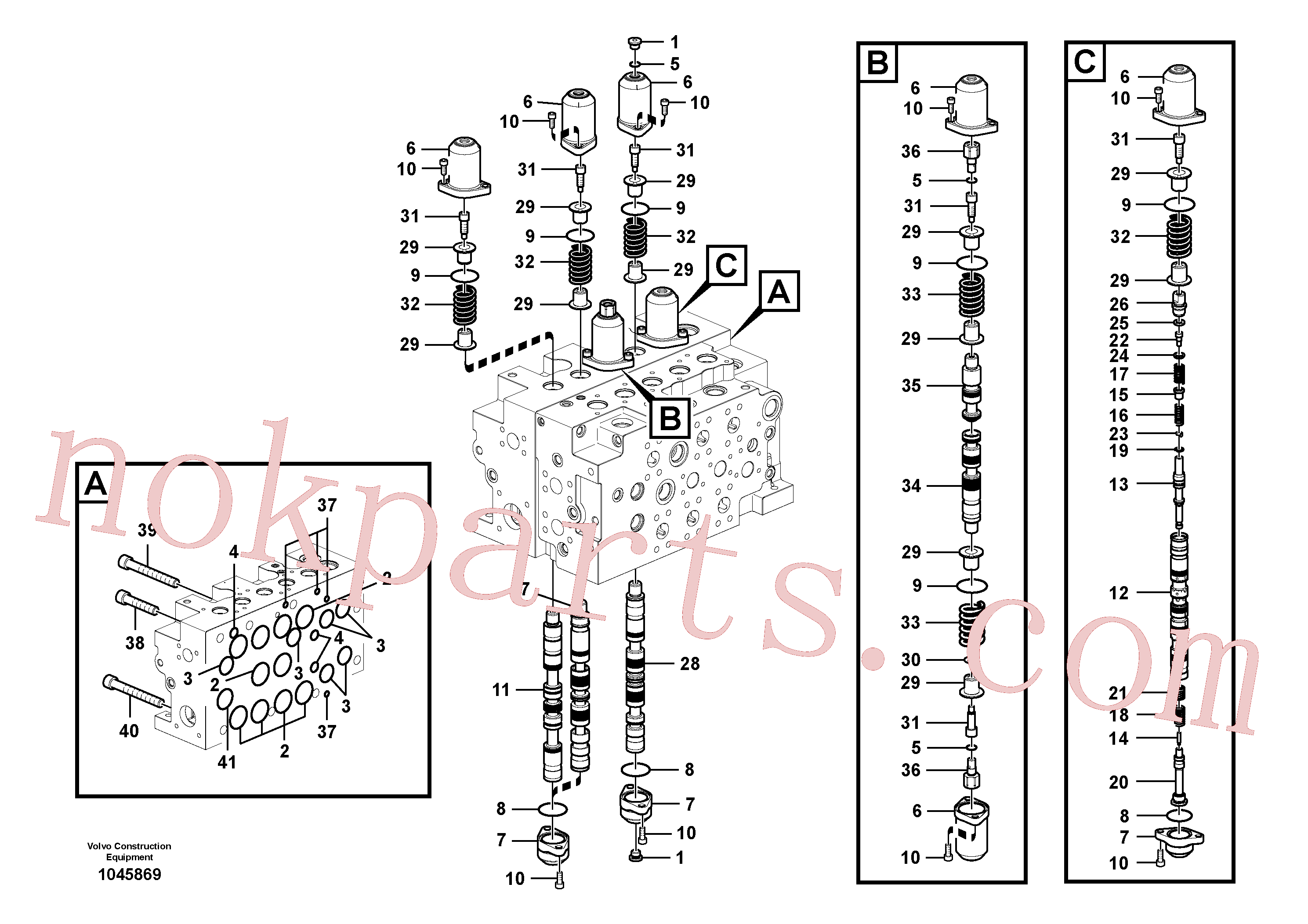 SA8230-00430 for Volvo Main control valve(1045869 assembly)
