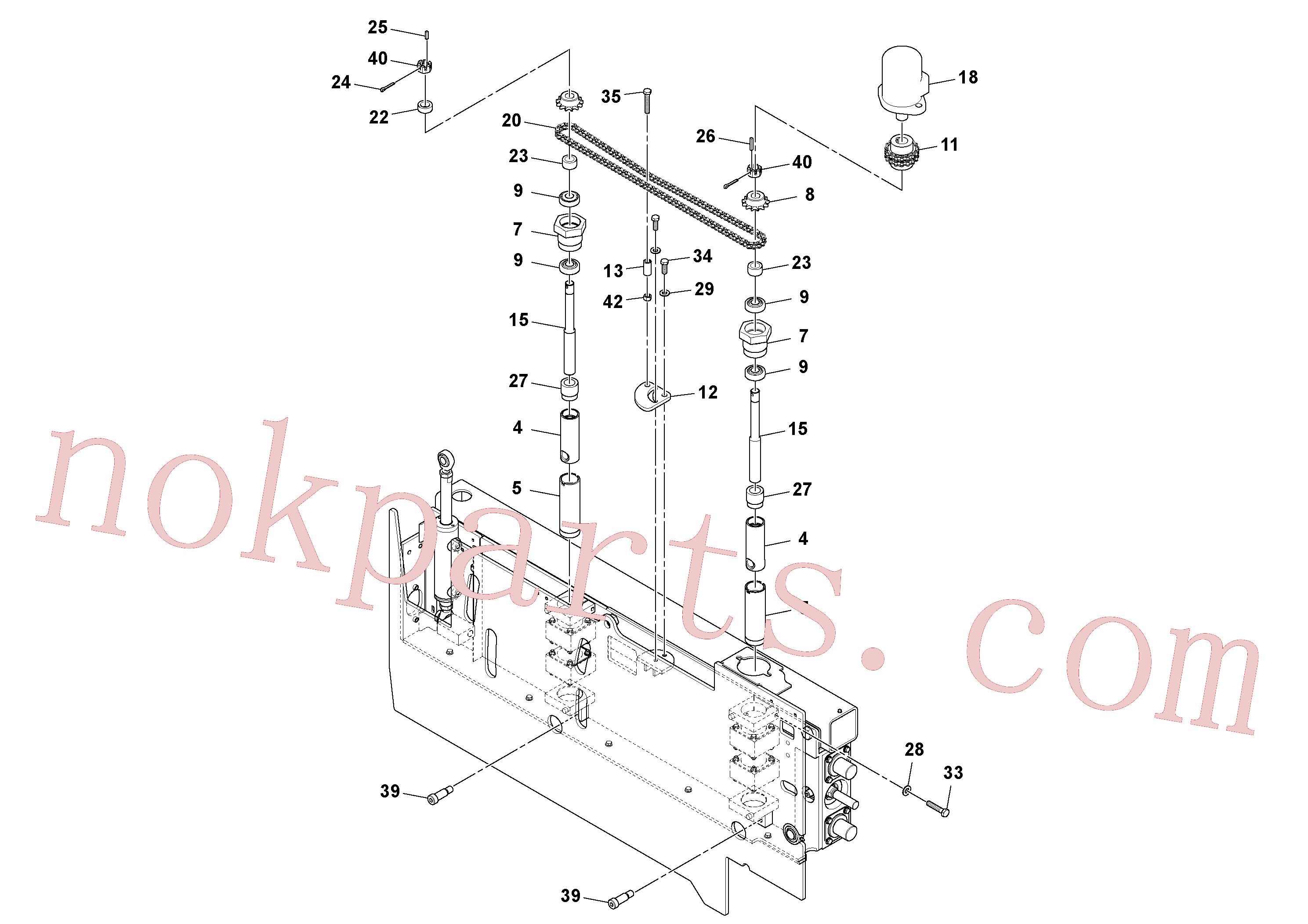 RM20313136 for Volvo Extension Assembly(1045978 assembly)