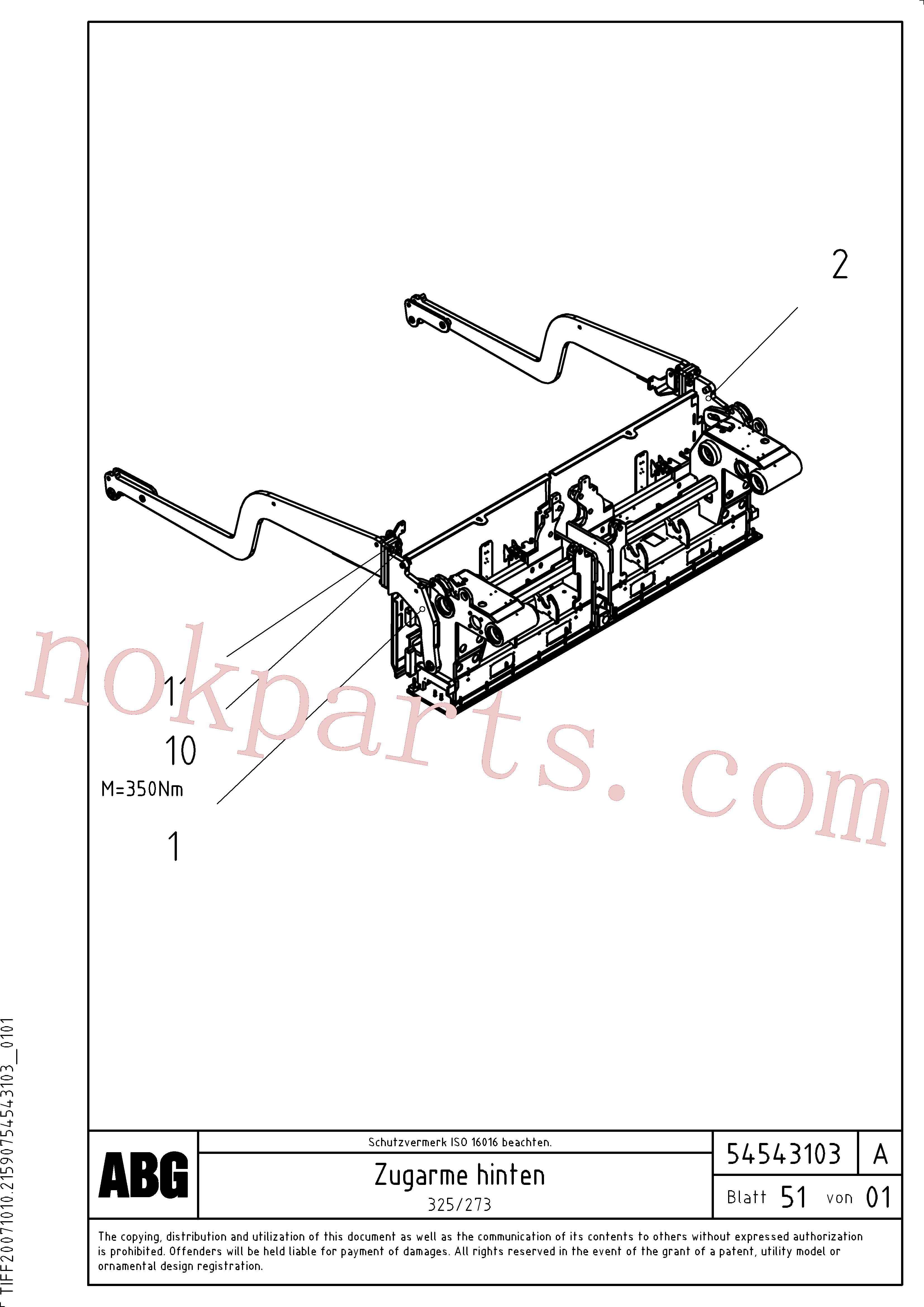 RM14261036 for Volvo Towing arms rear(1046702 assembly)