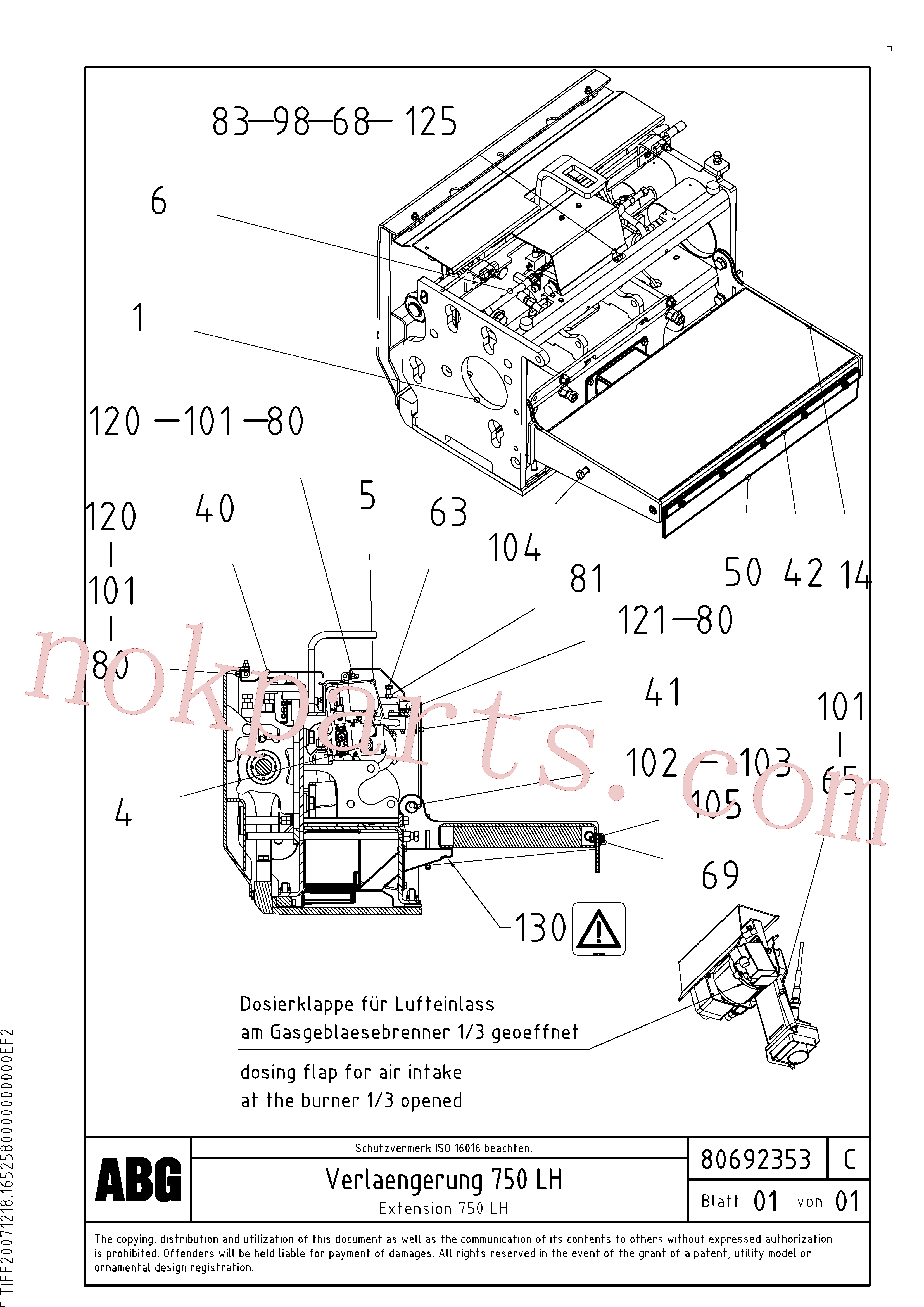 RM80734320 for Volvo Extension(1047133 assembly)