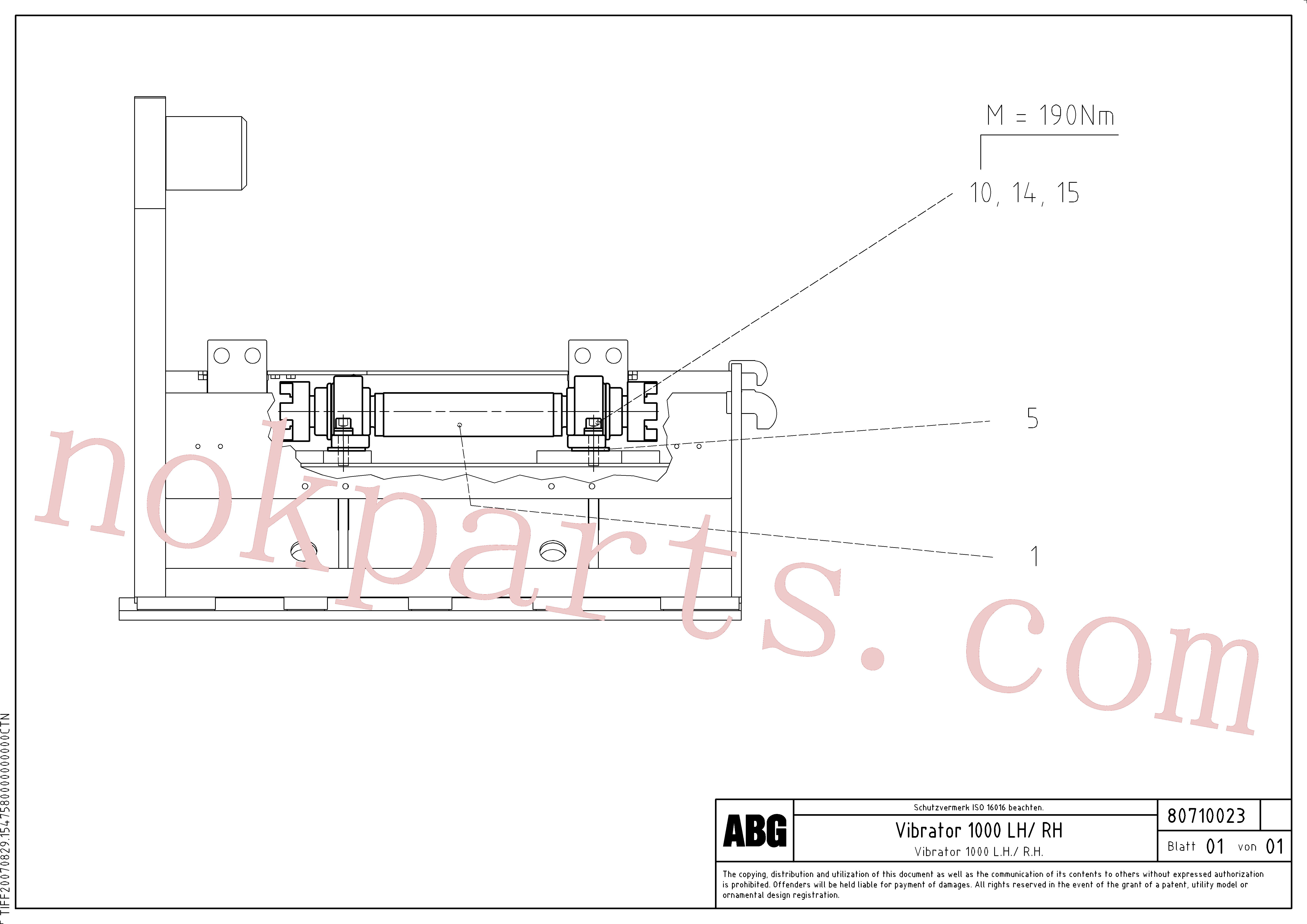 RM96725130 for Volvo Vibrator for extension(1047327 assembly)