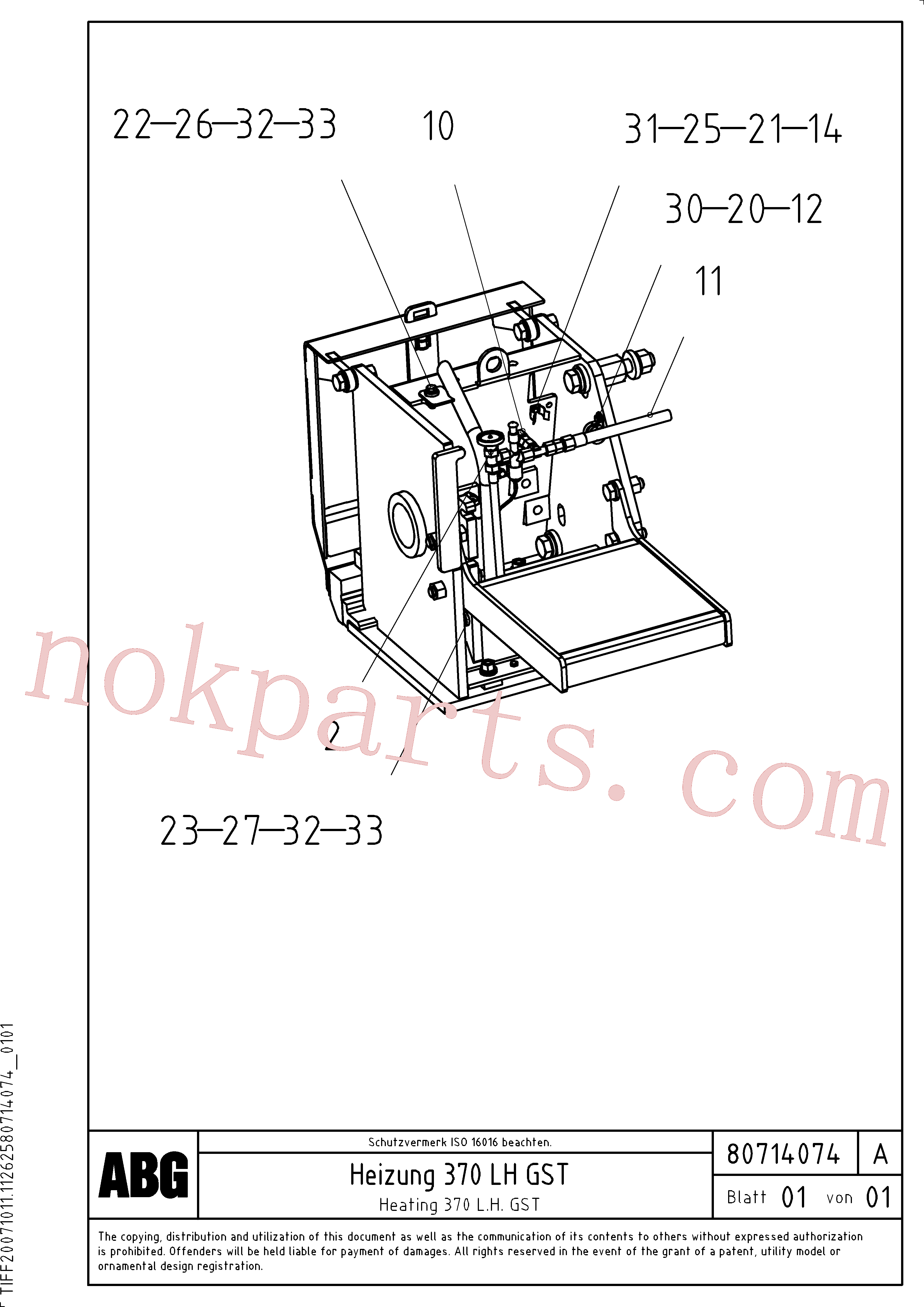 RM58832916 for Volvo Gas heating for extension(1047355 assembly)