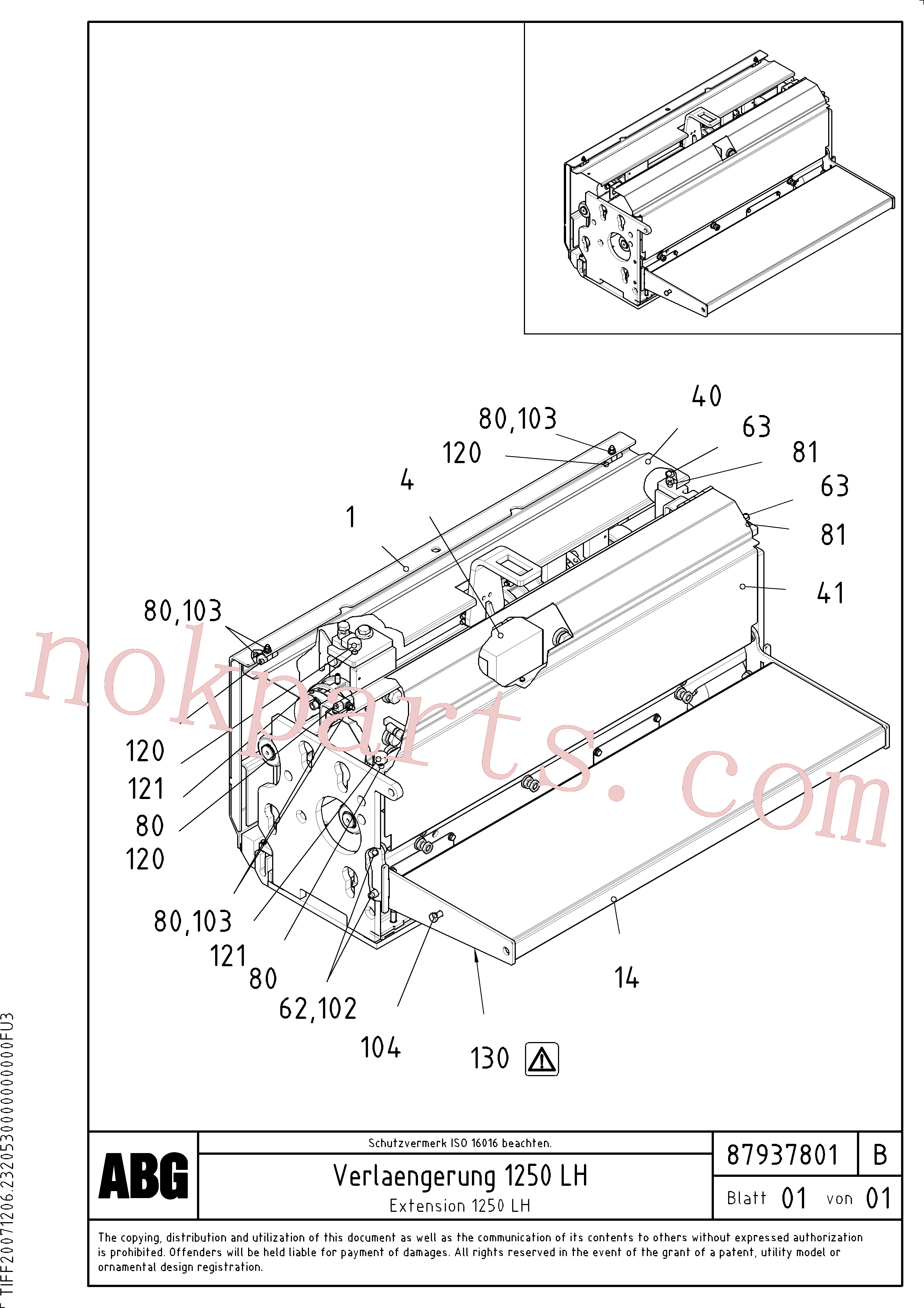 RM96702667 for Volvo Extension(1047907 assembly)