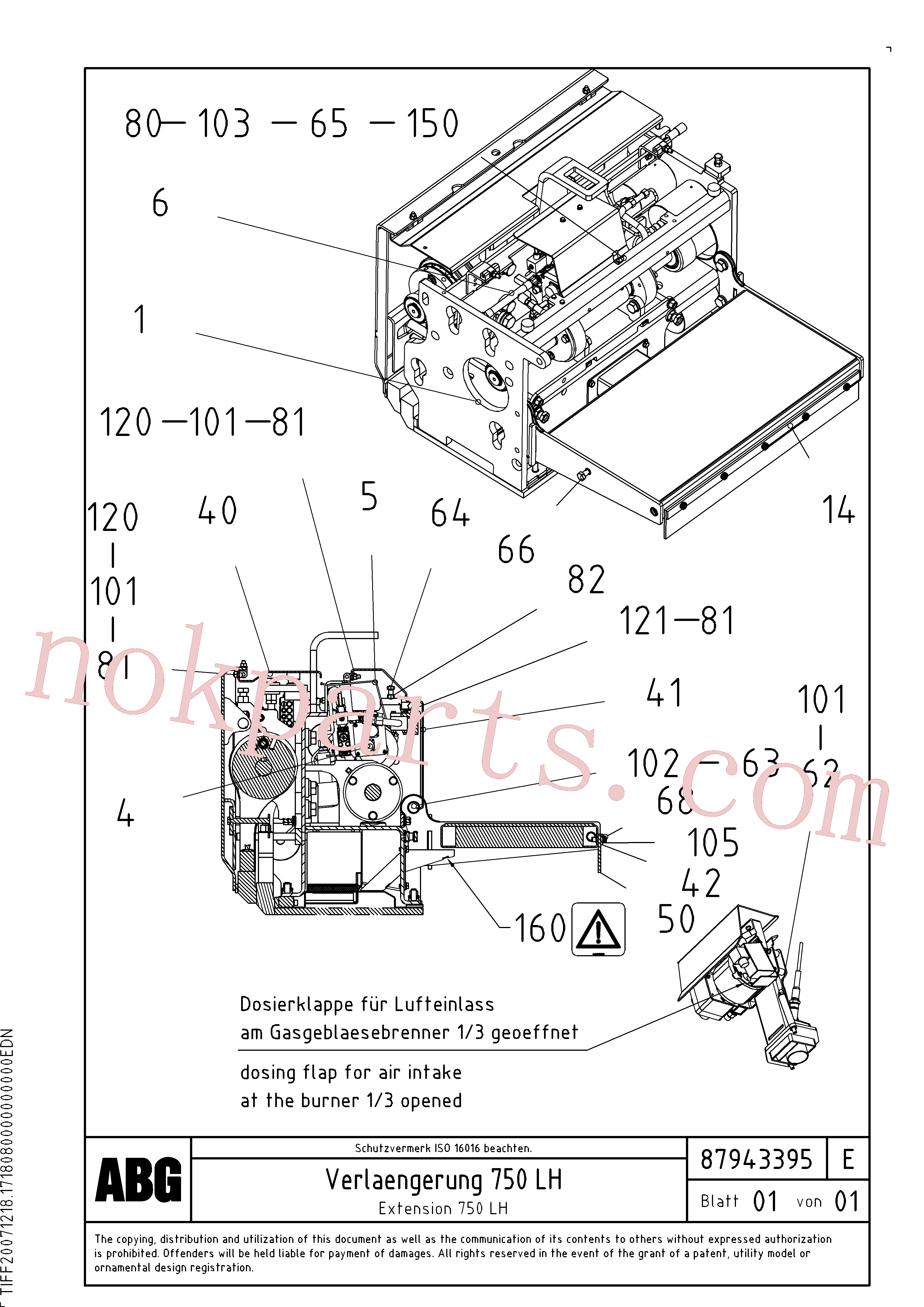 RM80734320 for Volvo Extension, Extension screed(1047977 assembly)