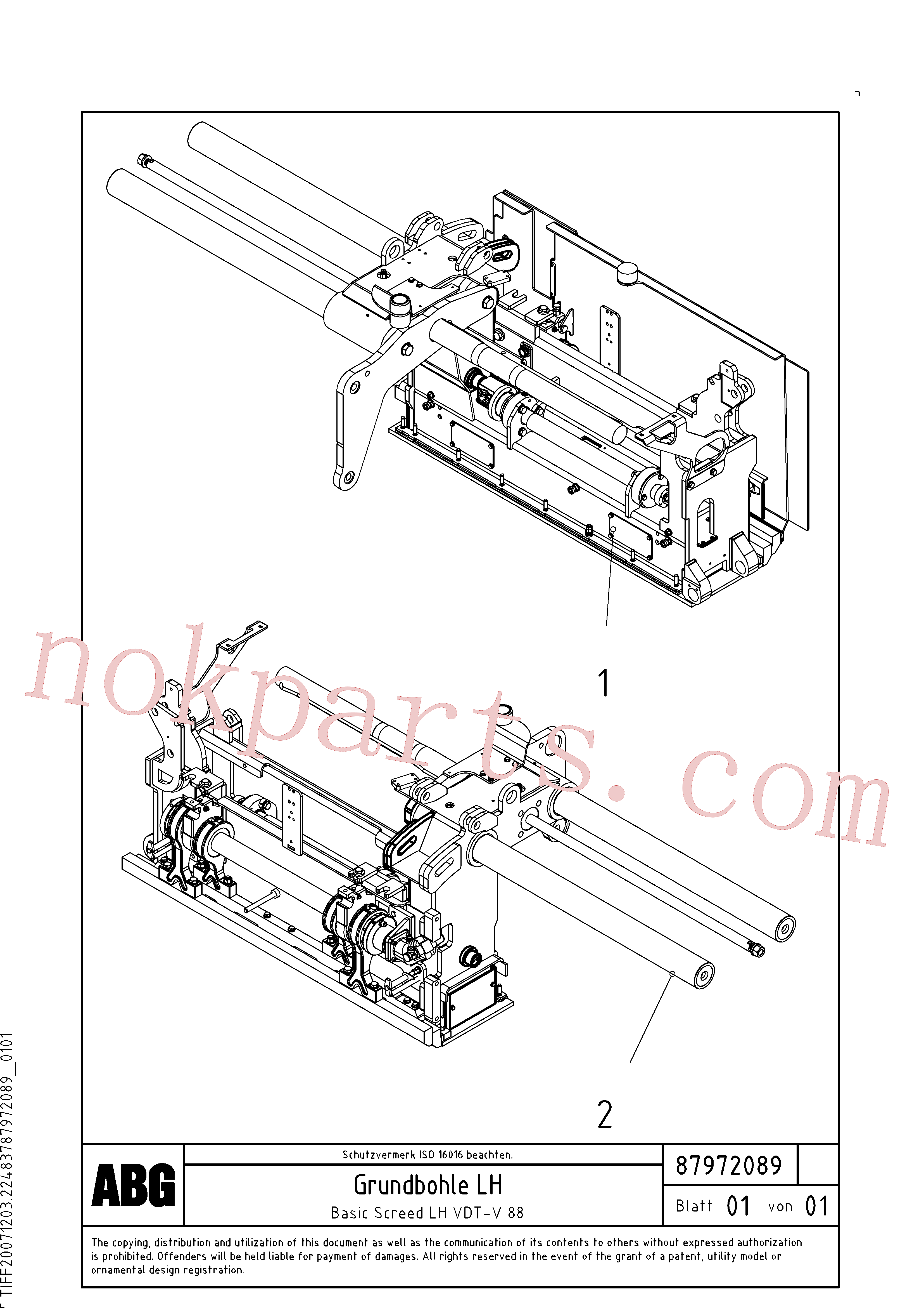 RM14106843 for Volvo Basic screed(1048165 assembly)