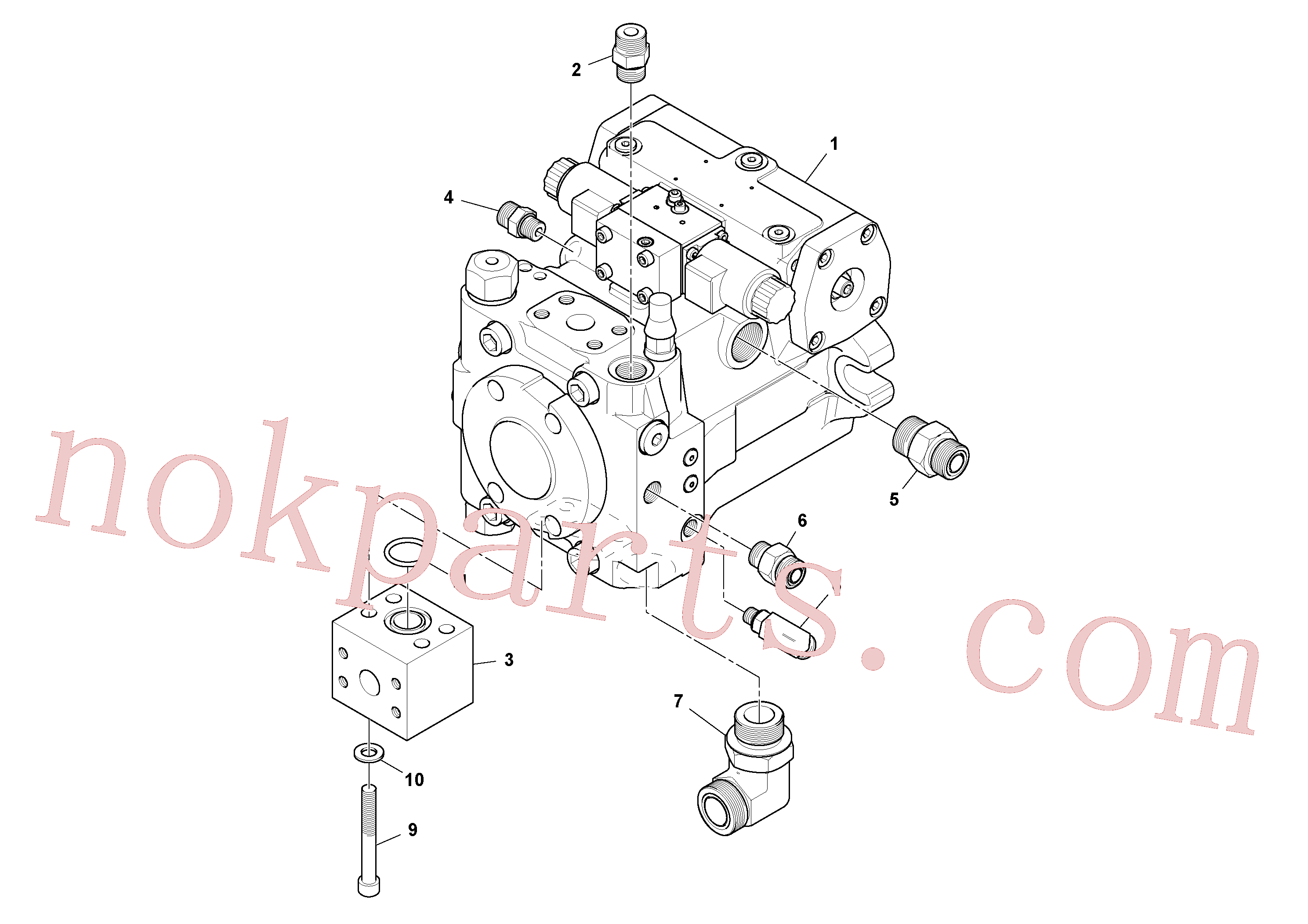 RM13866280 for Volvo Propulsion Pump Assembly(1048406 assembly)