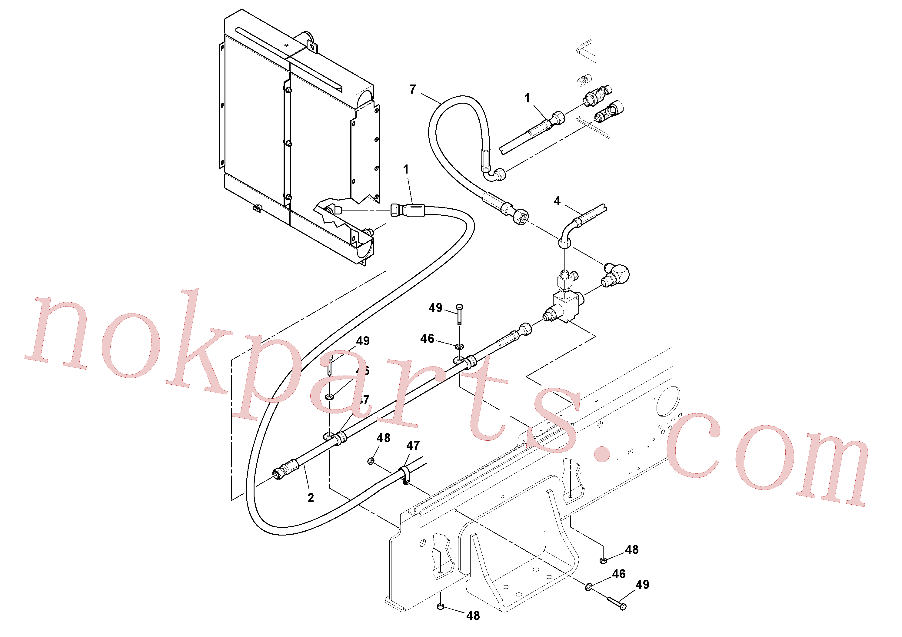 RM13207873 for Volvo Hoses Installation(1048980 assembly)