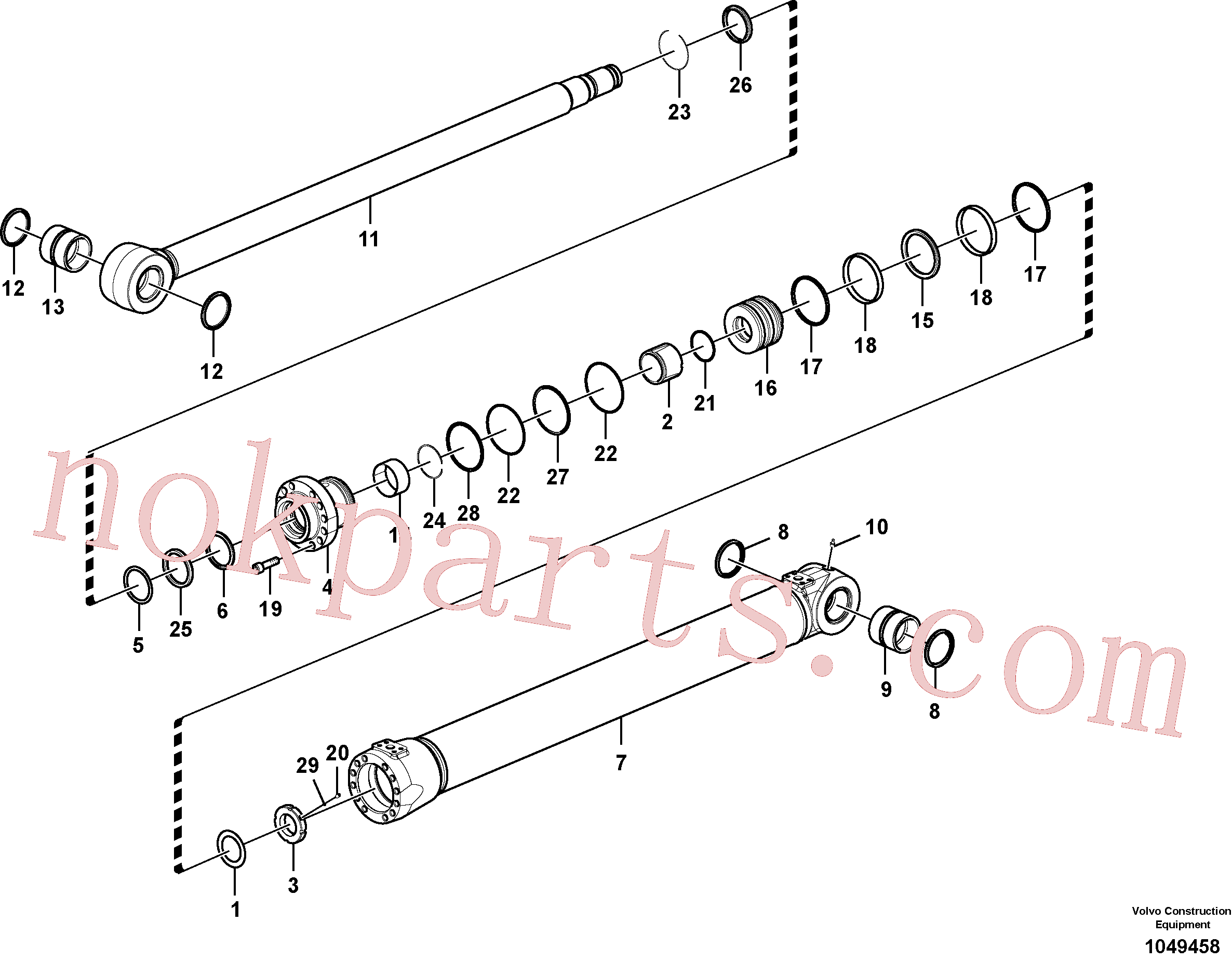 SA9565-11250 for Volvo Boom cylinder(1049458 assembly)