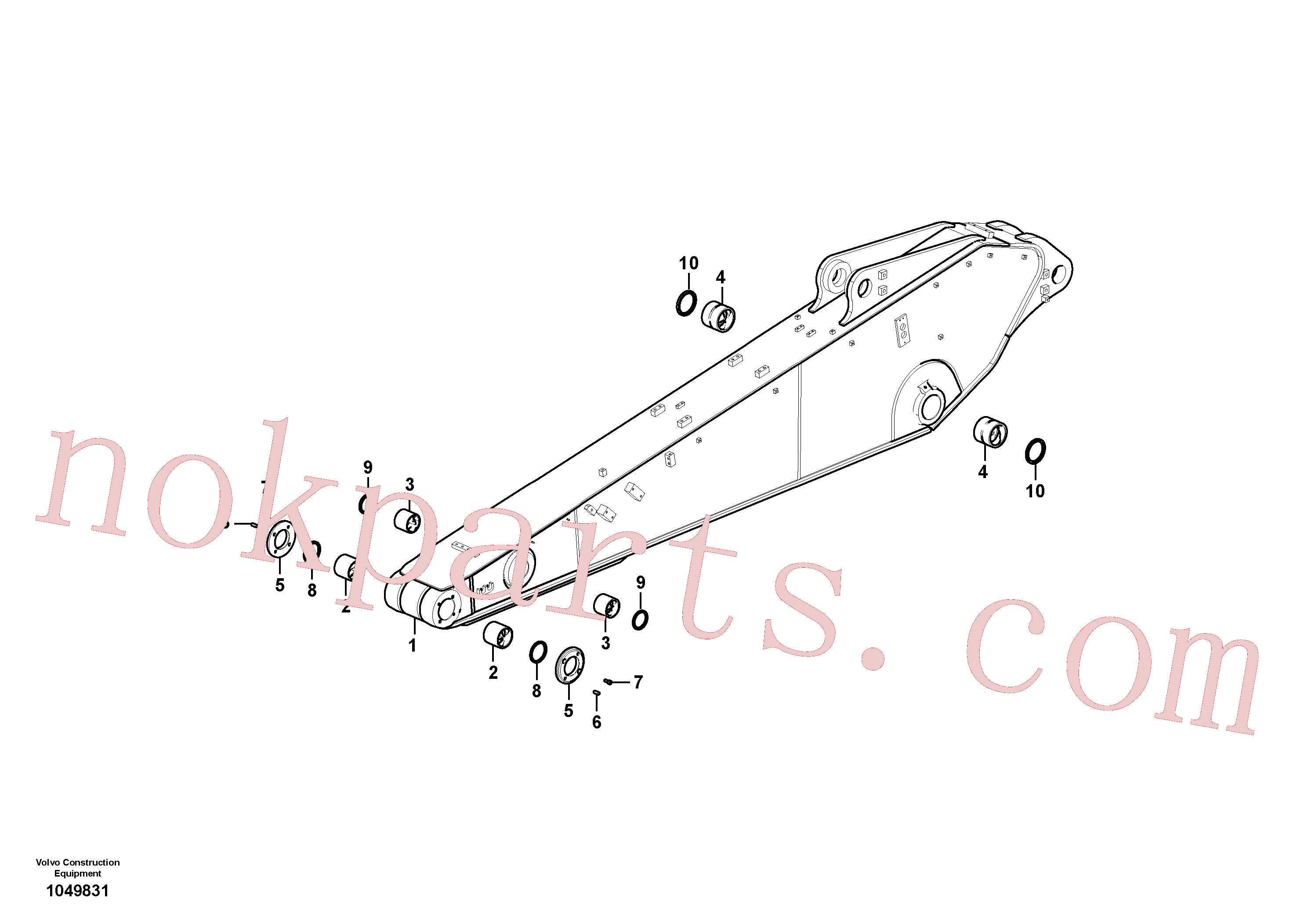 VOE14551342 for Volvo Dipper arm(1049831 assembly)
