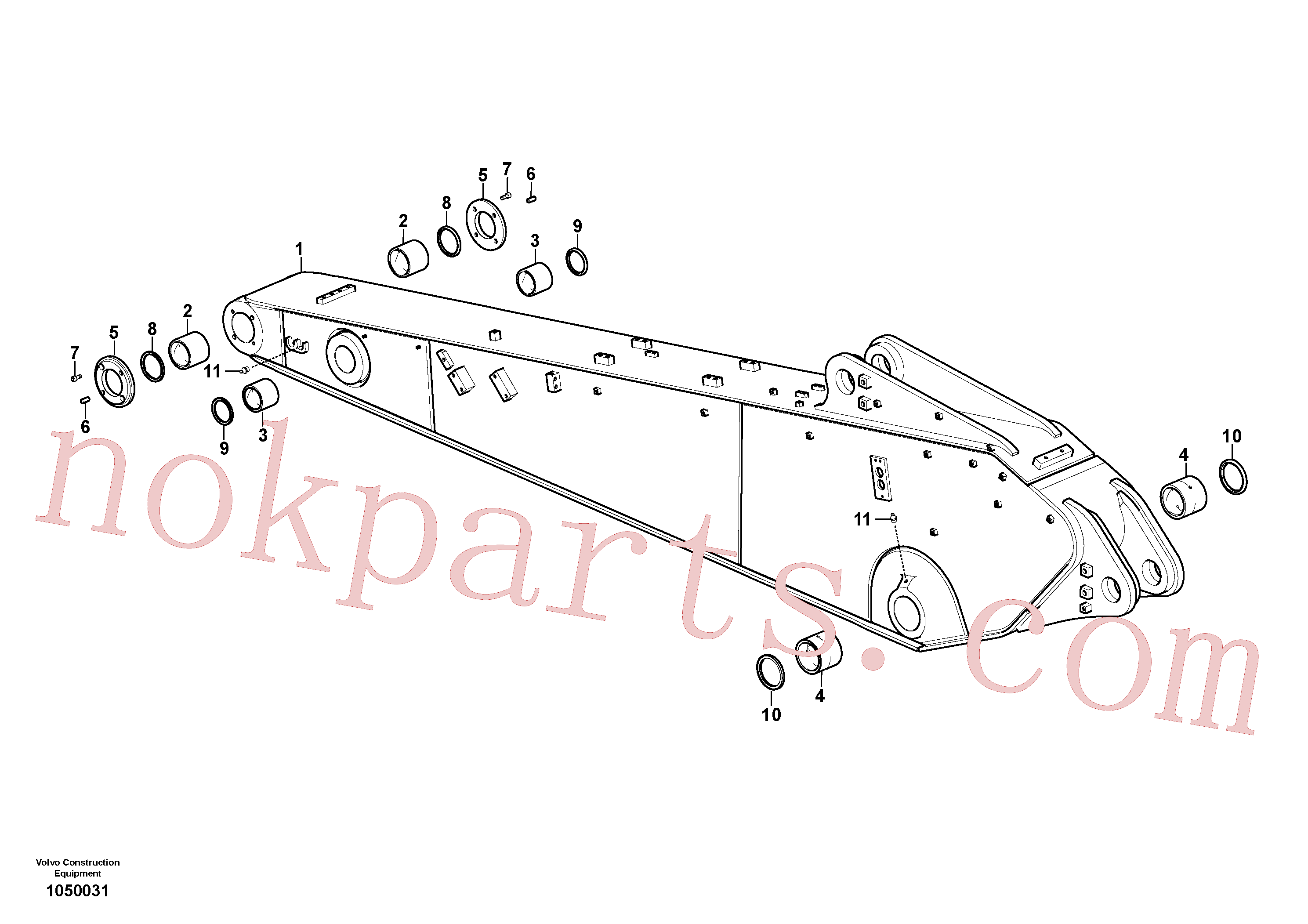 VOE14544974 for Volvo Dipper arm and grease piping with piping seat(1050031 assembly)