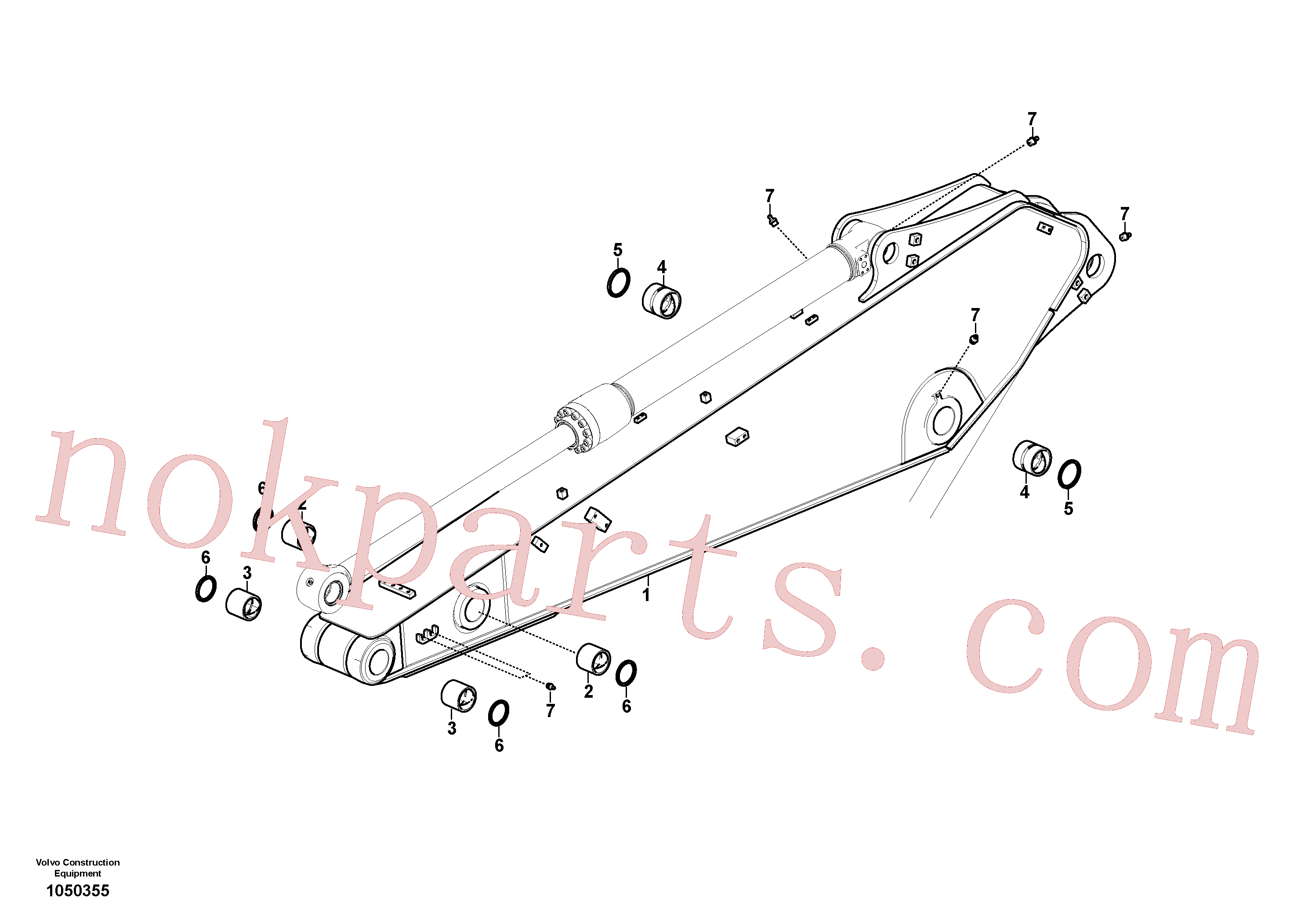 VOE14544974 for Volvo Dipper arm and grease piping with piping seat(1050355 assembly)