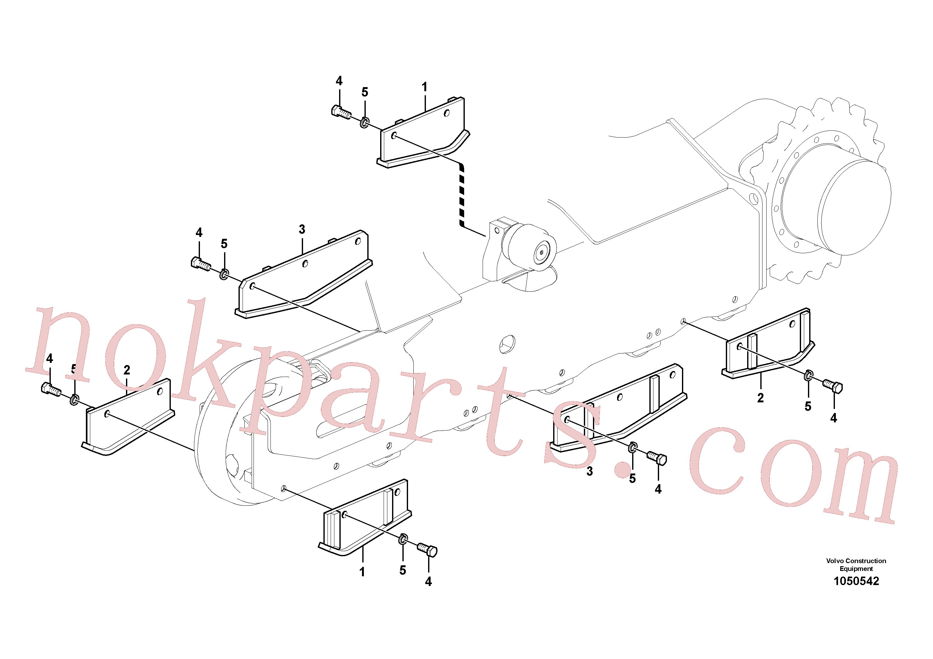 RM94036654 for Volvo Undercarriage, track guards(1050542 assembly)