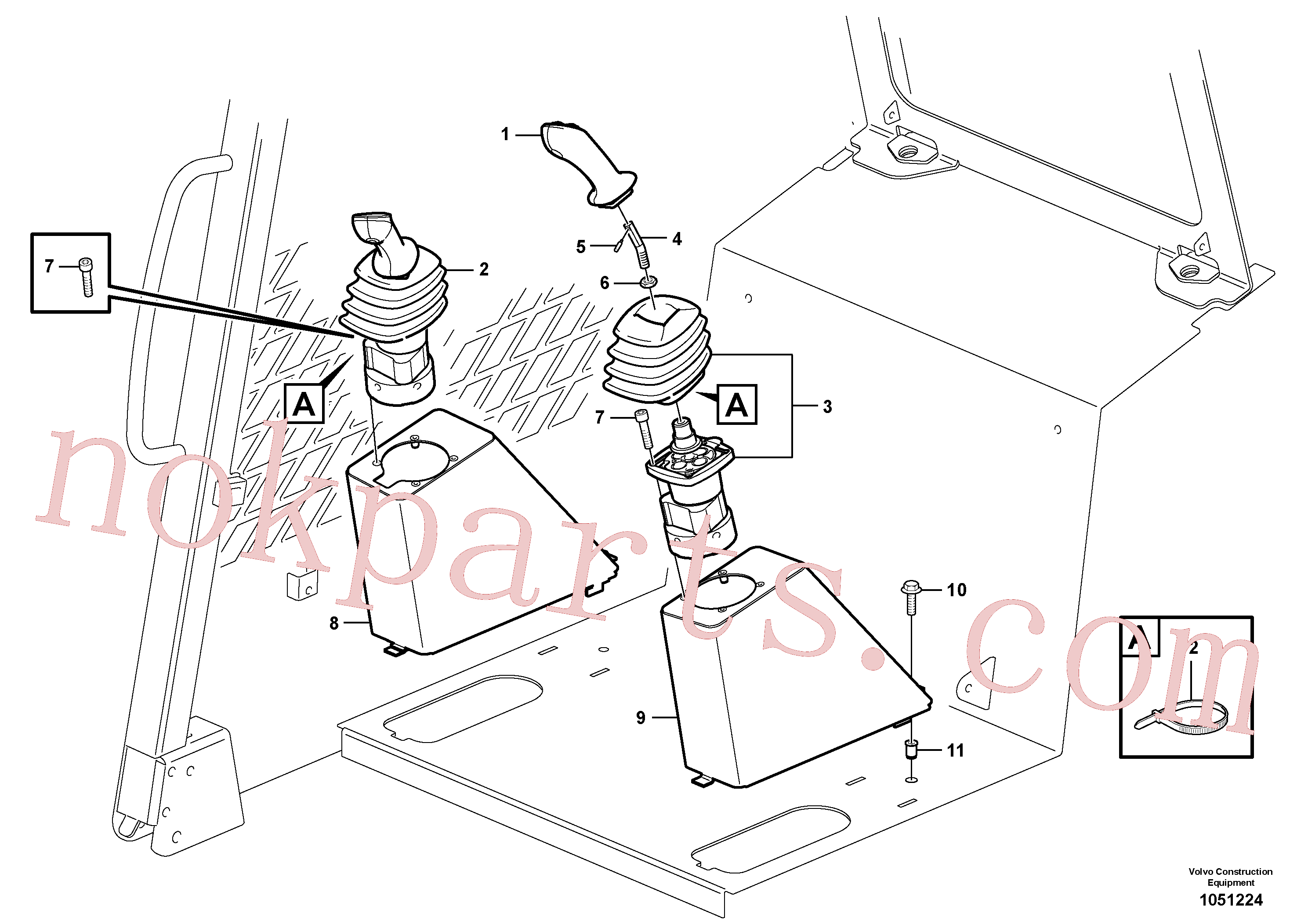 VOE15099104 for Volvo Optional hand controls(1051224 assembly)