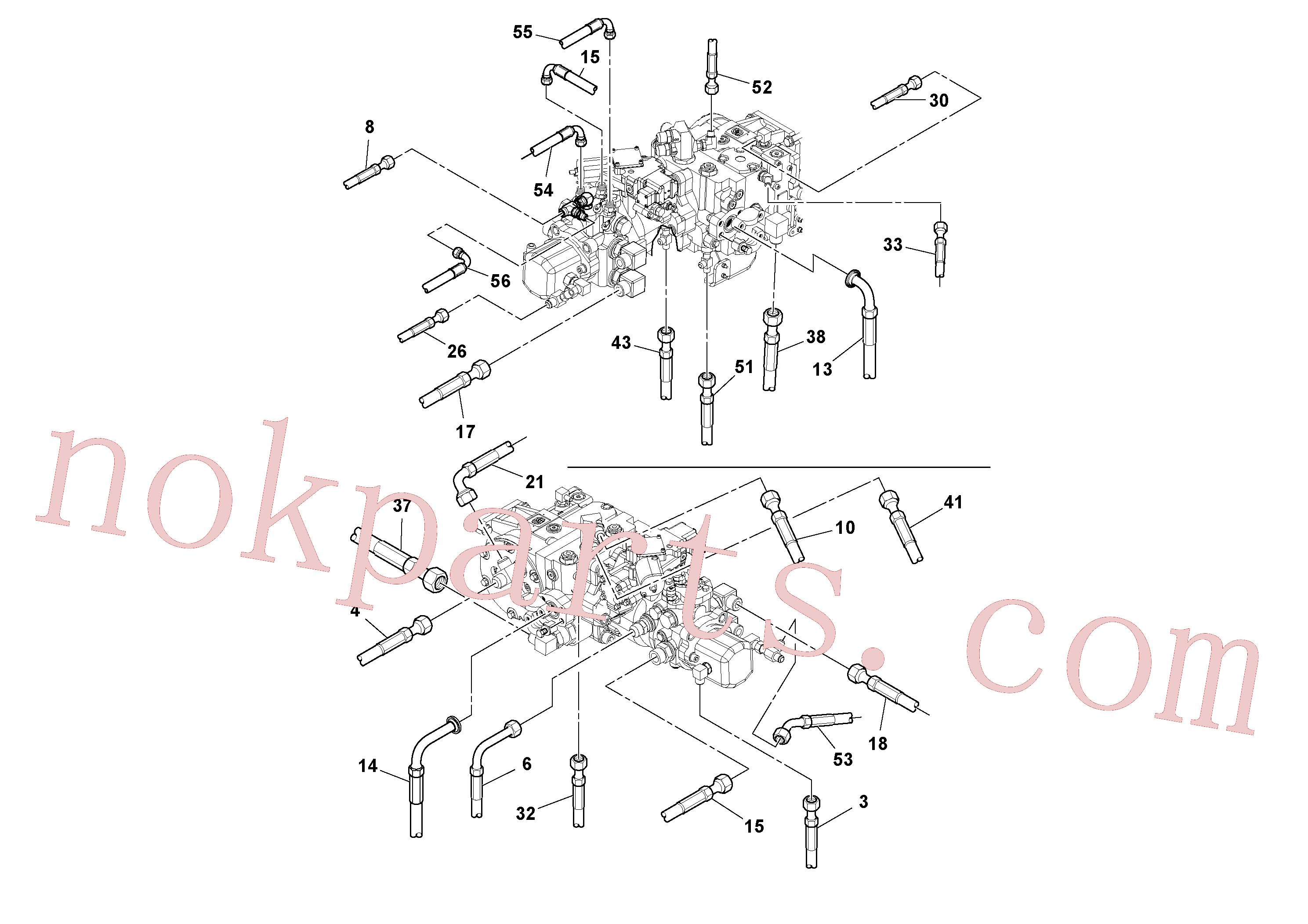 RM59667717 for Volvo Rear Frame Hoses Installation(1051269 assembly)