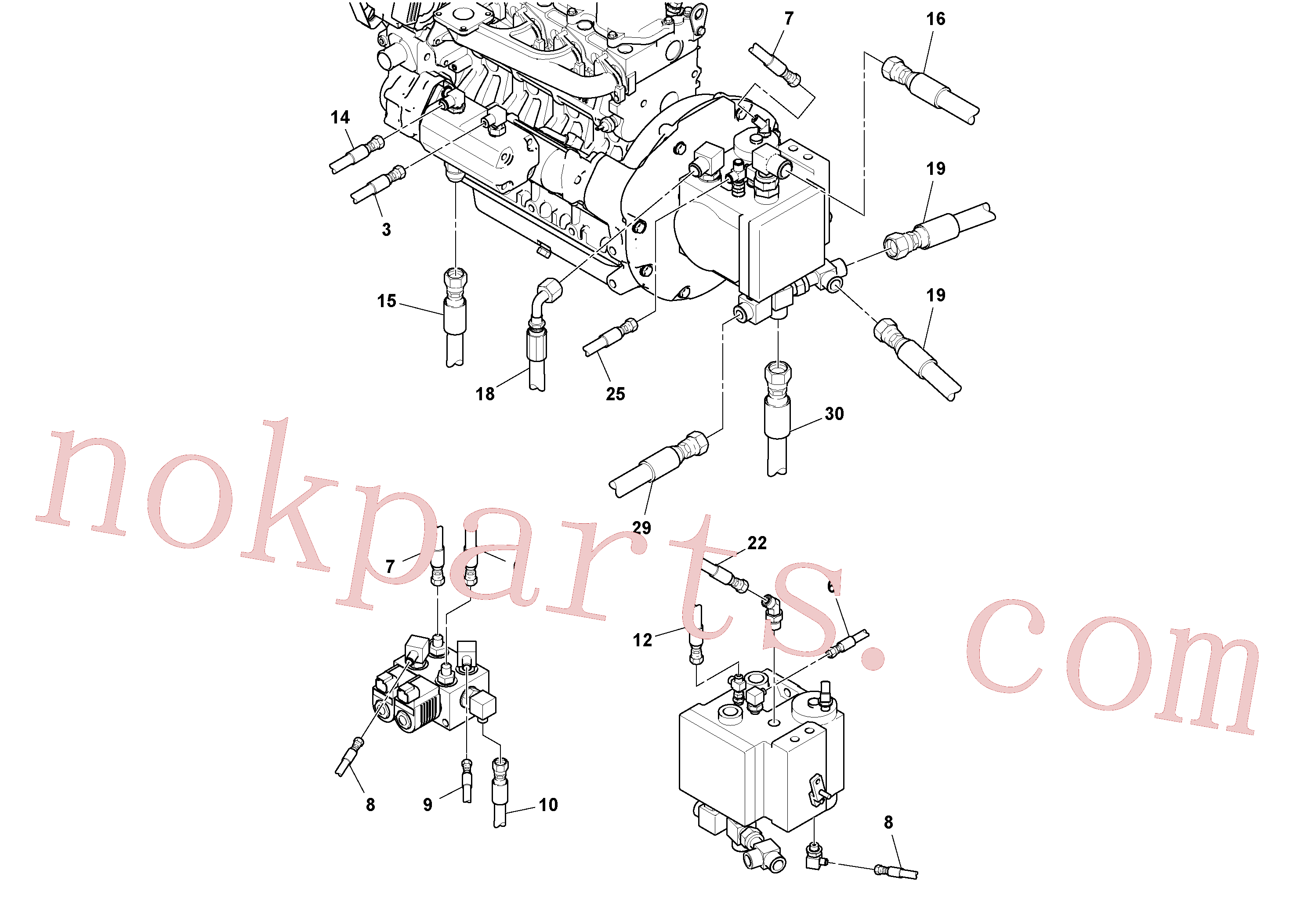 RM13365226 for Volvo Rear Frame Hoses Installation(1051405 assembly)