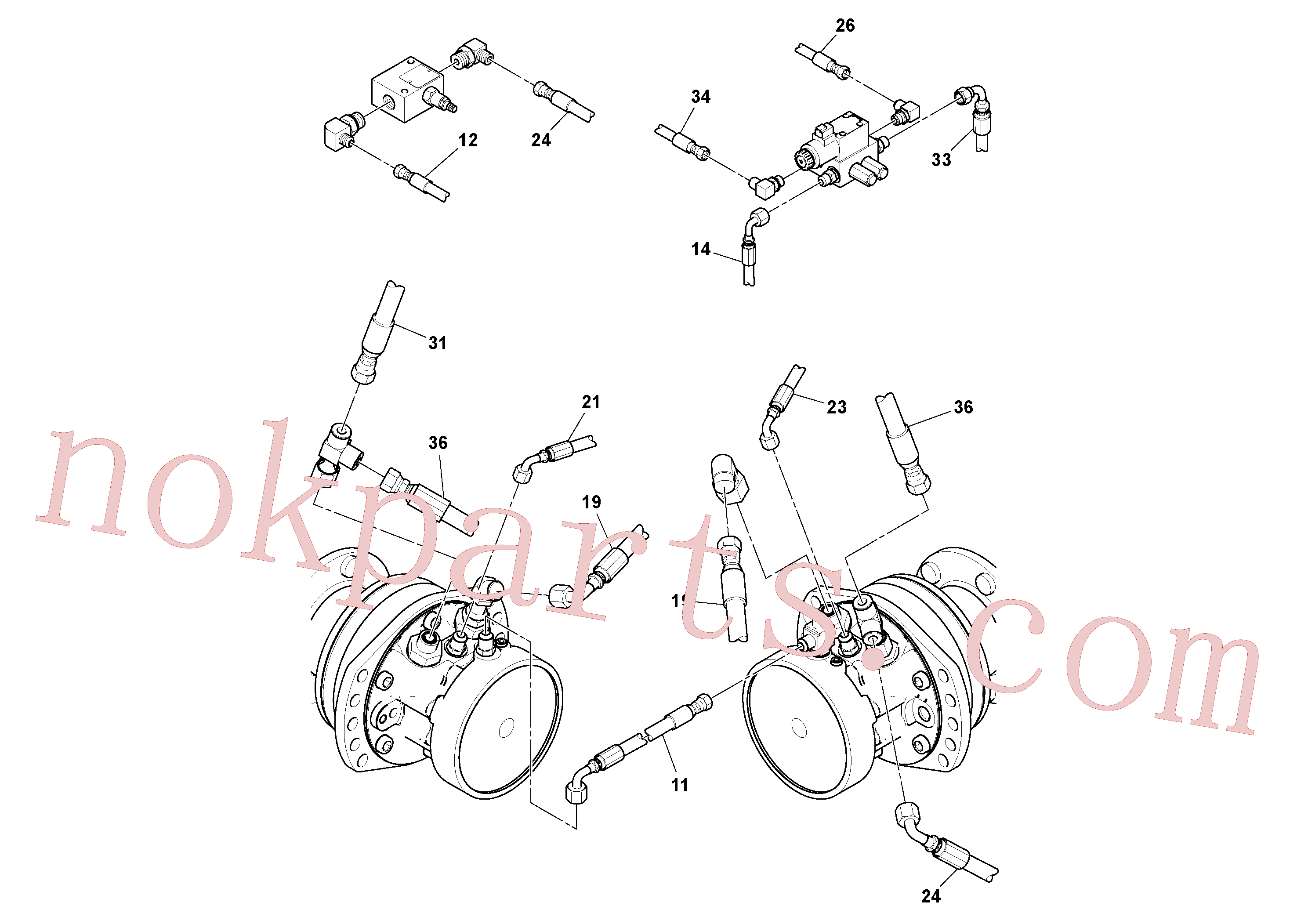 RM13365226 for Volvo Rear Frame Hoses Installation(1051407 assembly)