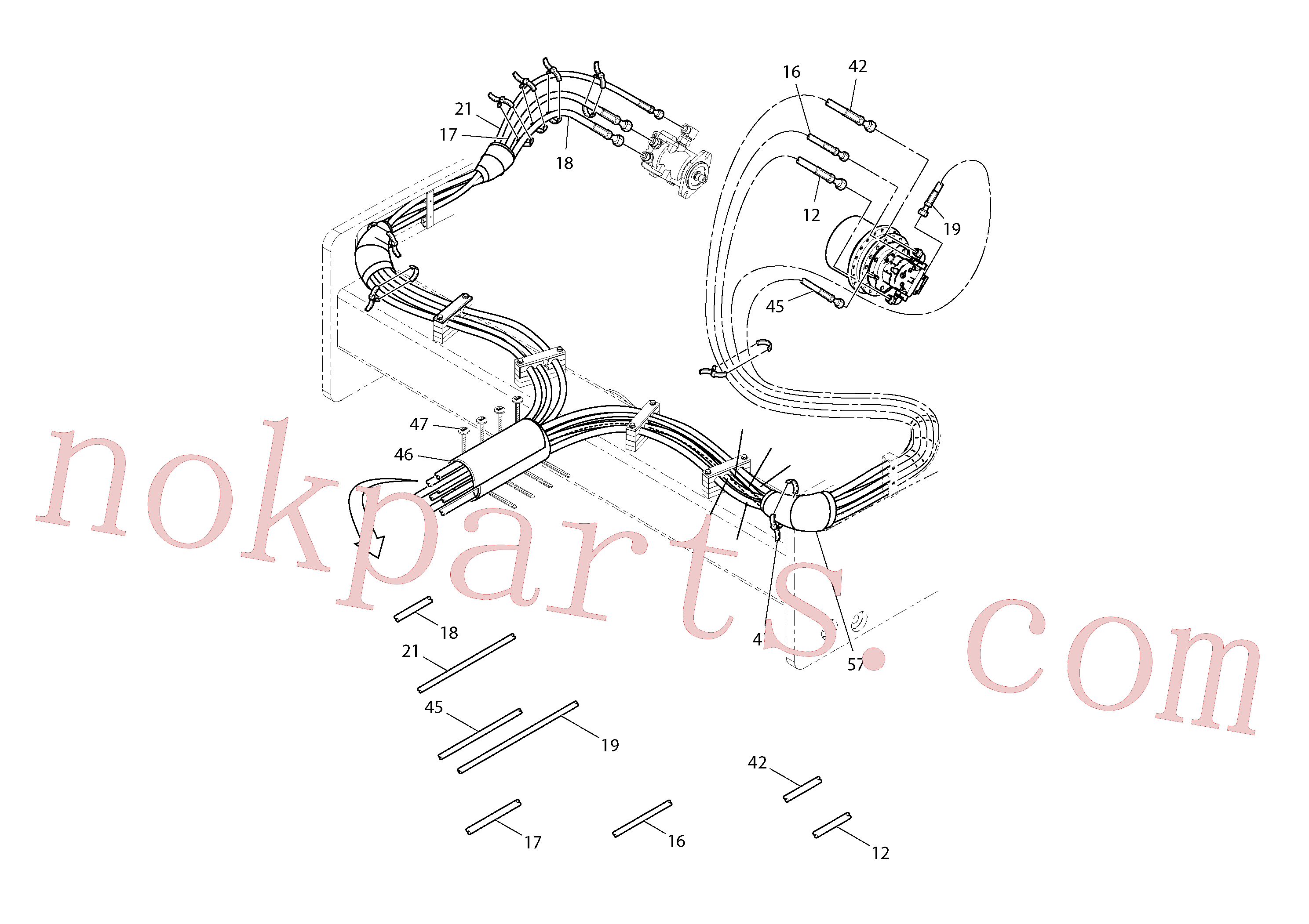 RM95424586 for Volvo Rear Frame Hoses Installation(1051519 assembly)