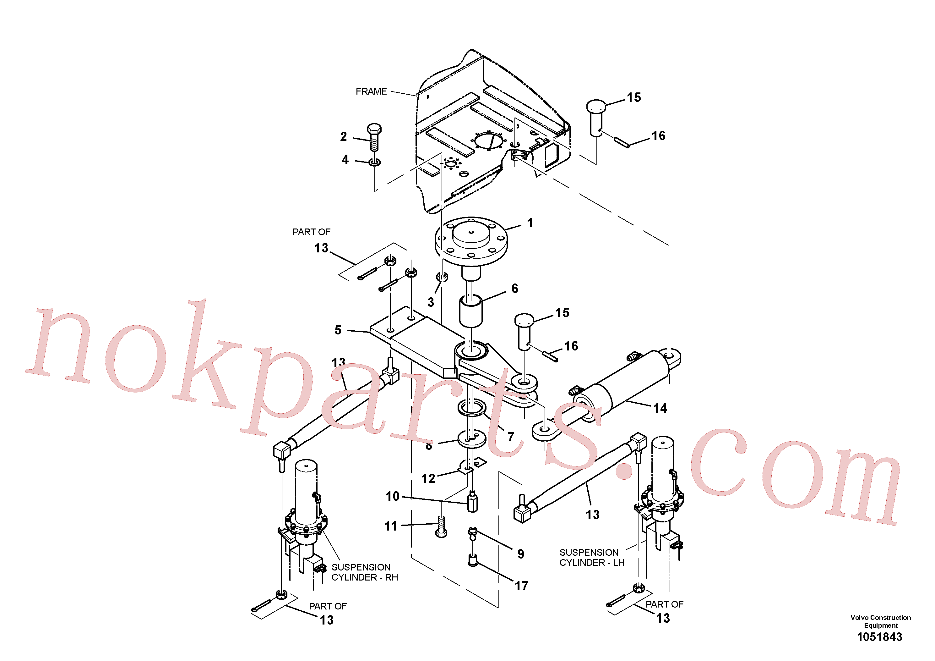 RM96721873 for Volvo Steering Installation(1051843 assembly)