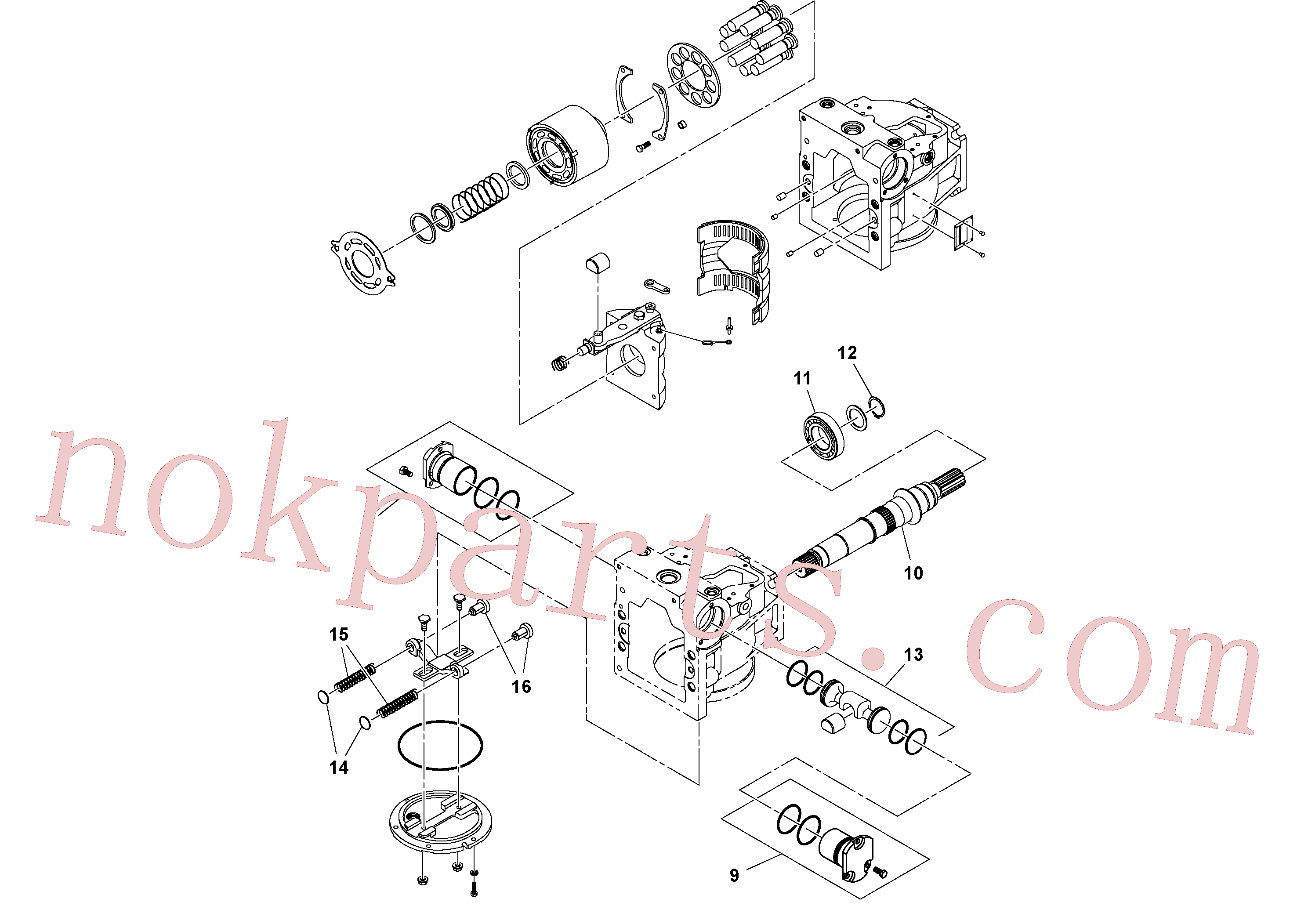 RM13792973 for Volvo Hydraulic pump(1052151 assembly)