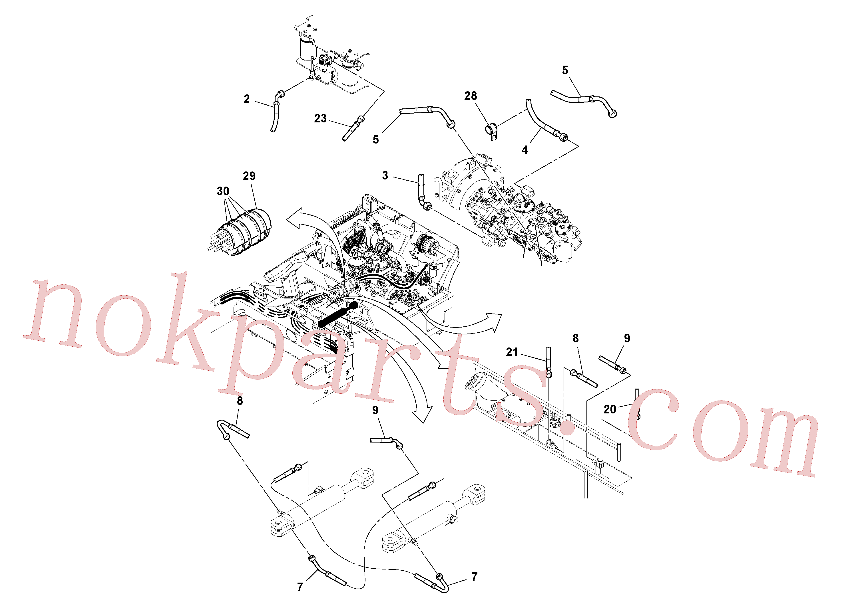 RM13286604 for Volvo Front Hosing Installation(1052407 assembly)