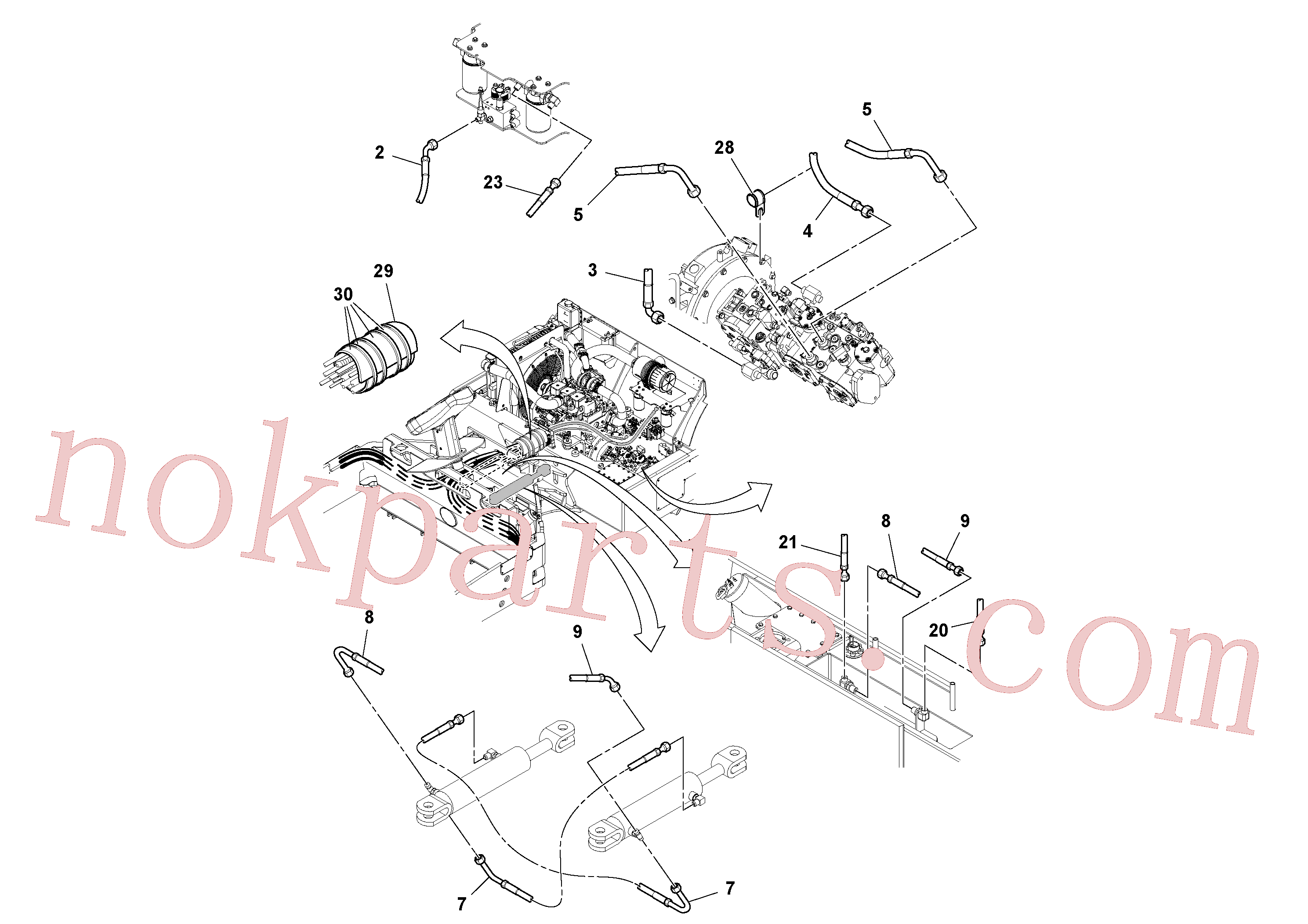 RM13286604 for Volvo Front Hosing Installation(1052448 assembly)