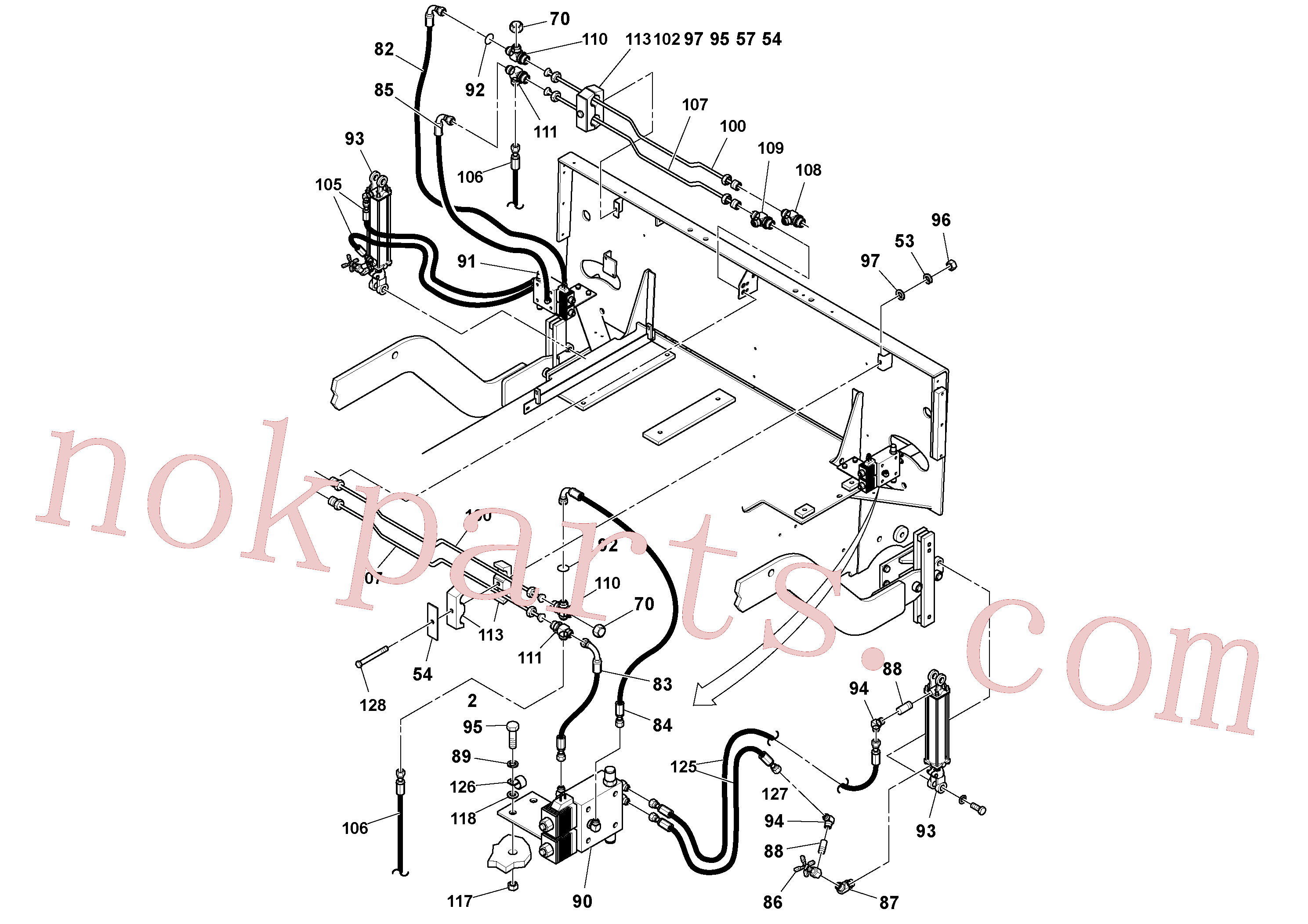RM95929782 for Volvo General Purpose Hydraulic System(1053342 assembly)