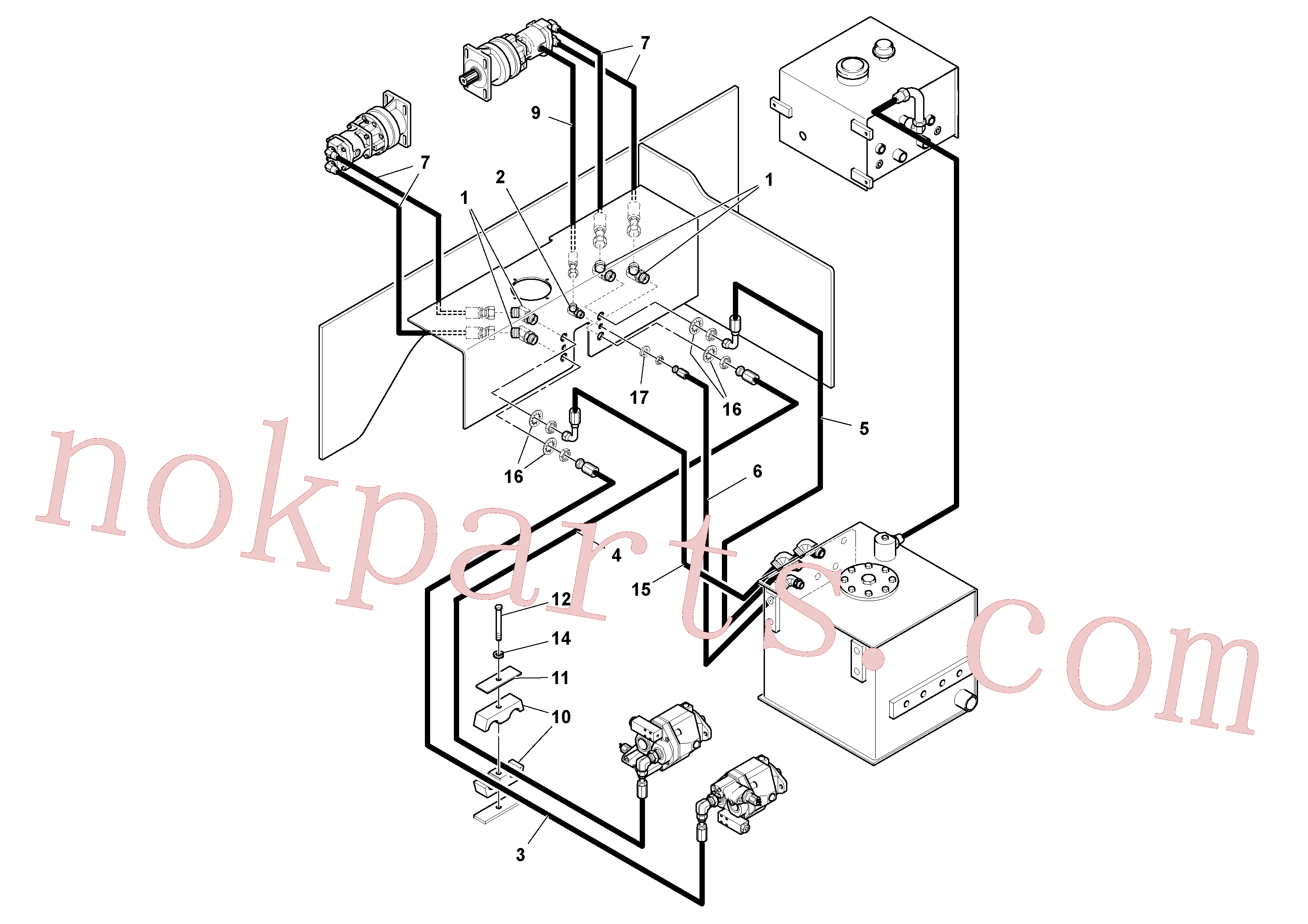RM20949392 for Volvo Auger/conveyor Drive Hydraulic System(1053354 assembly)