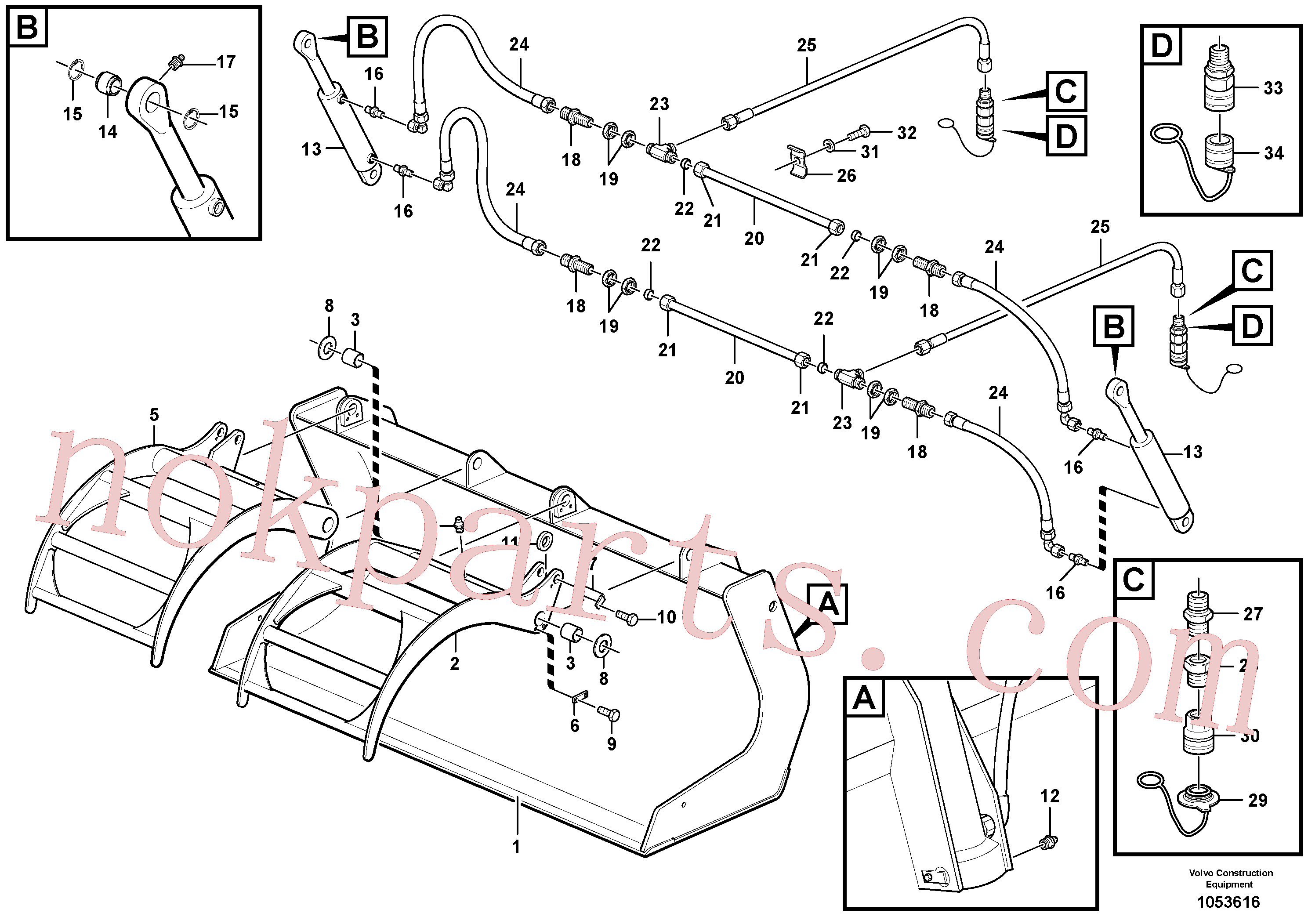 ZM2807266 for Volvo Scrap bucket(1053616 assembly)