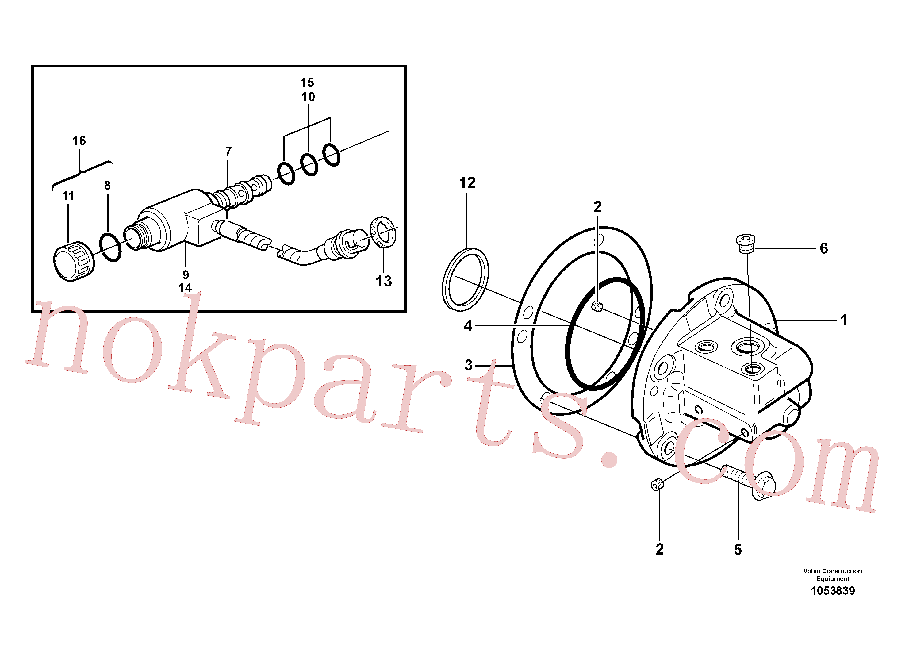 RM46630596 for Volvo Oil distributor(1053839 assembly)