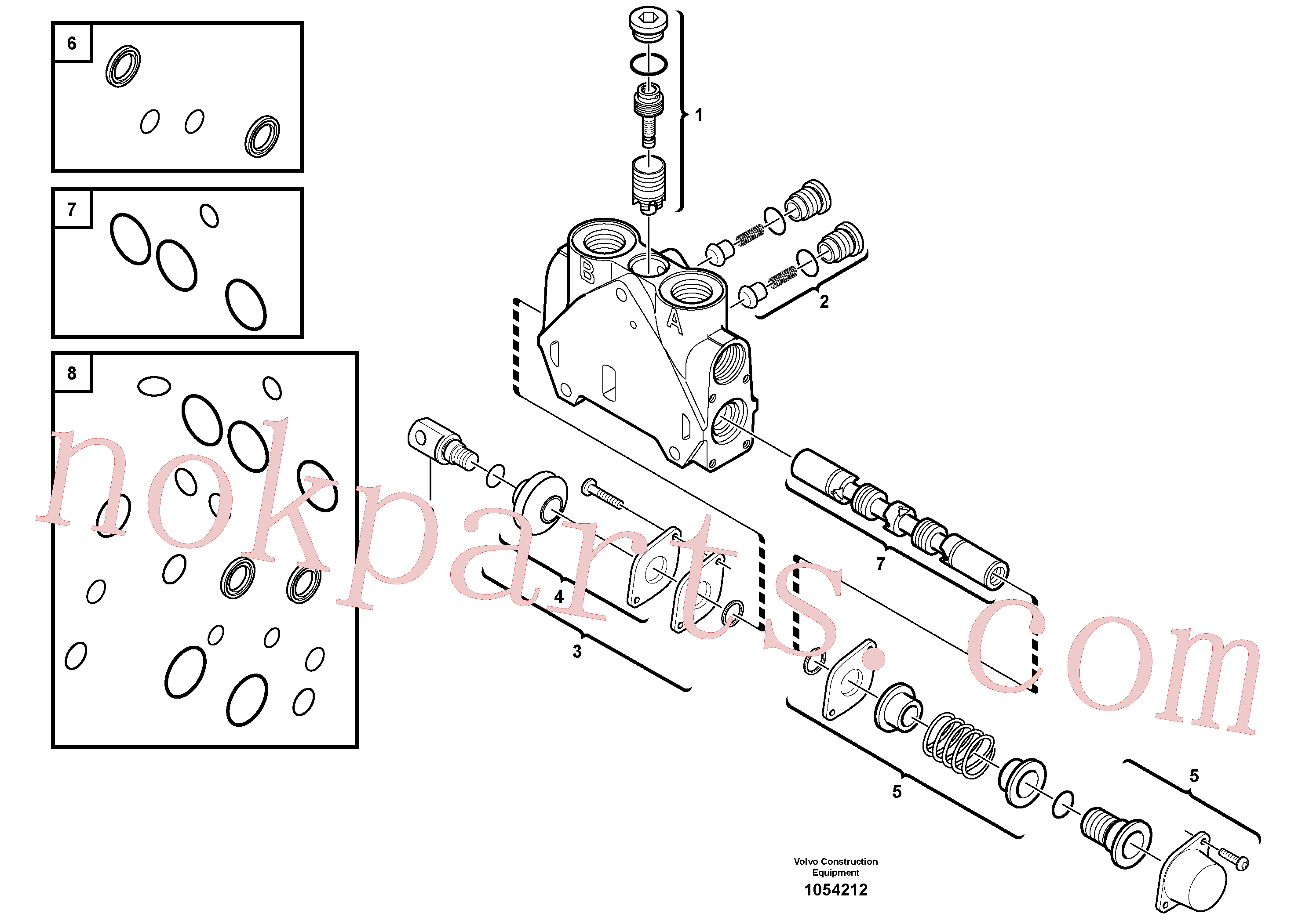 VOE11715276 for Volvo Valve section(1054212 assembly)