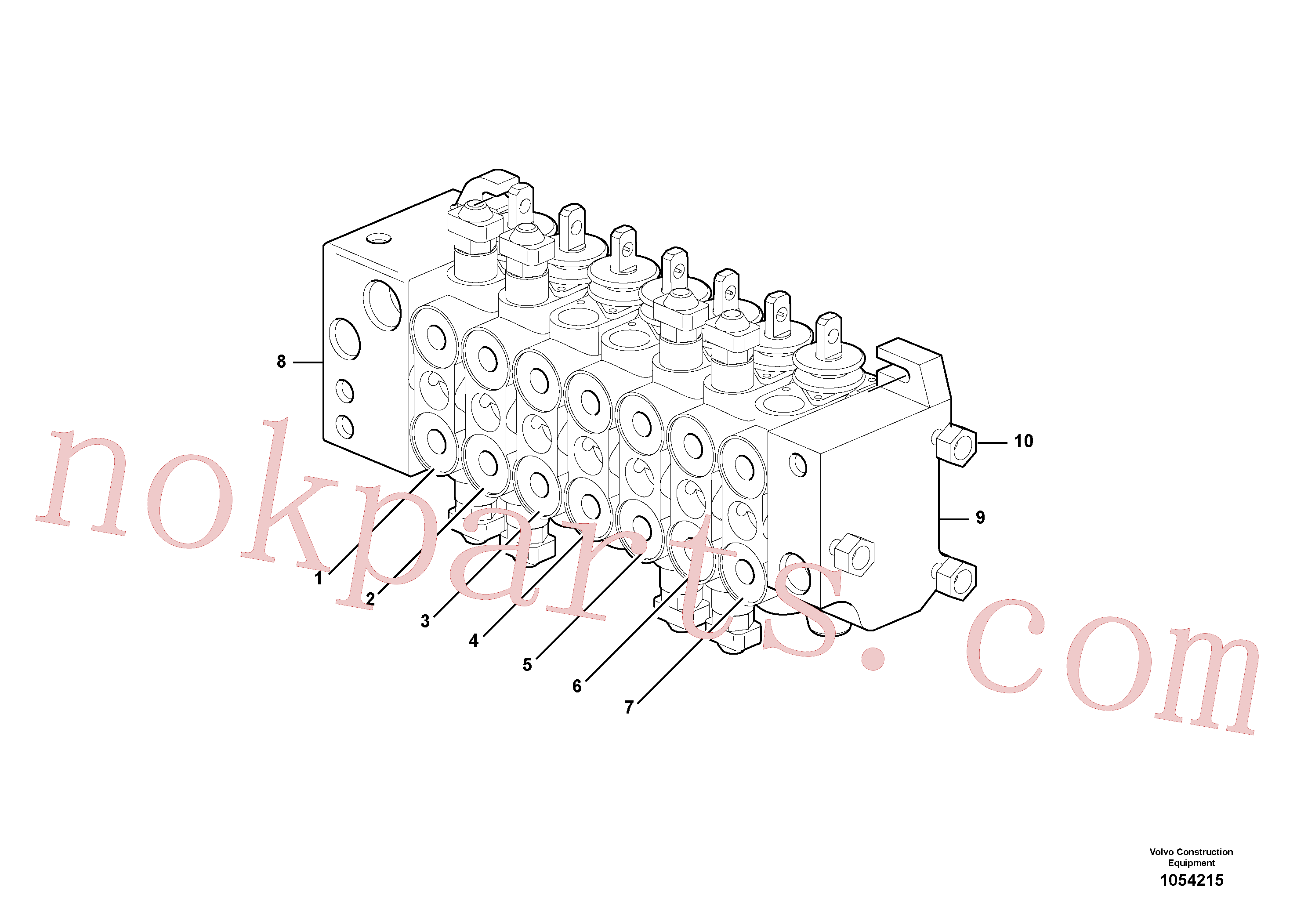 VOE15149798 for Volvo Control valve(1054215 assembly)