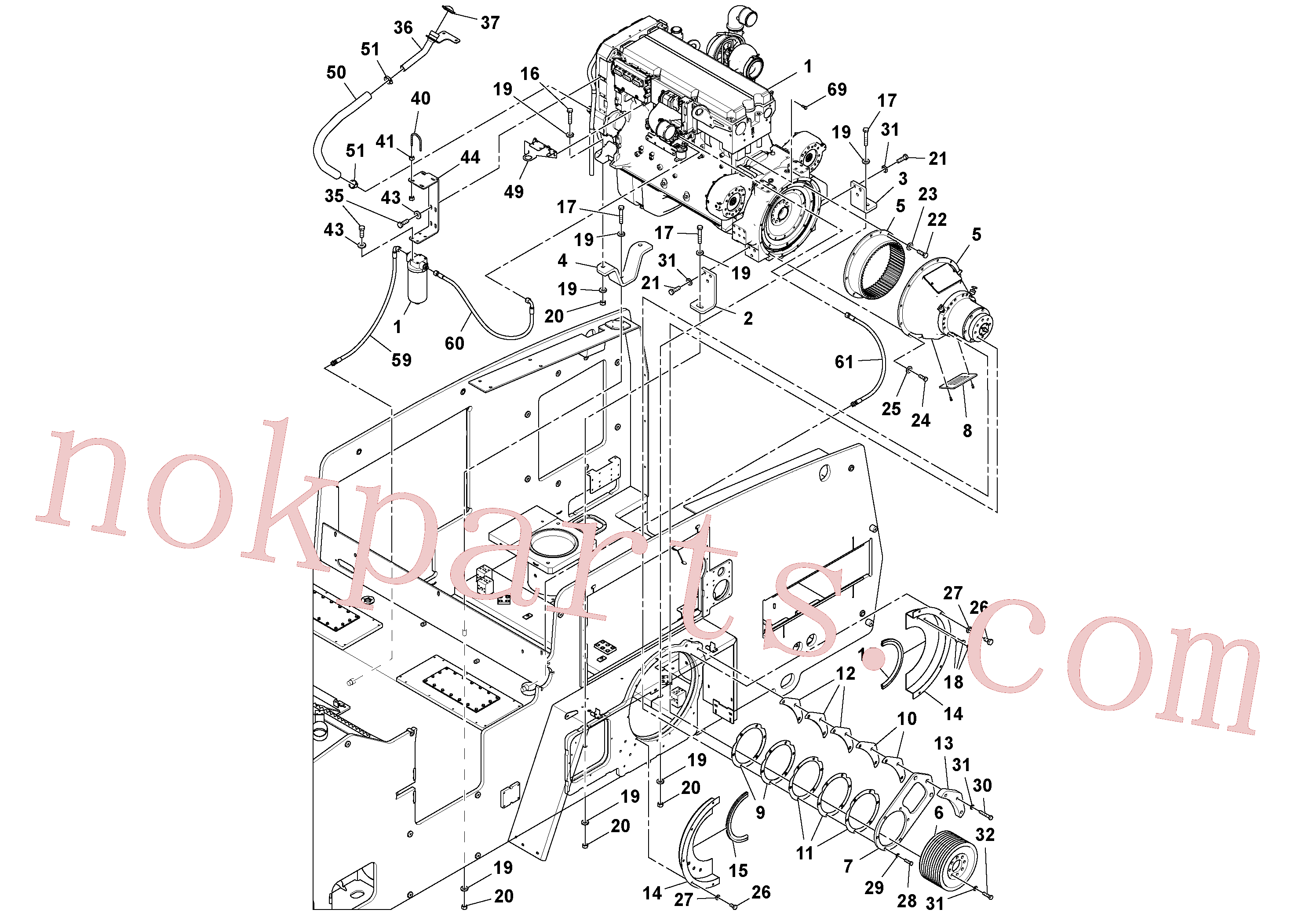 RM96703665 for Volvo Engine assembly(1054476 assembly)