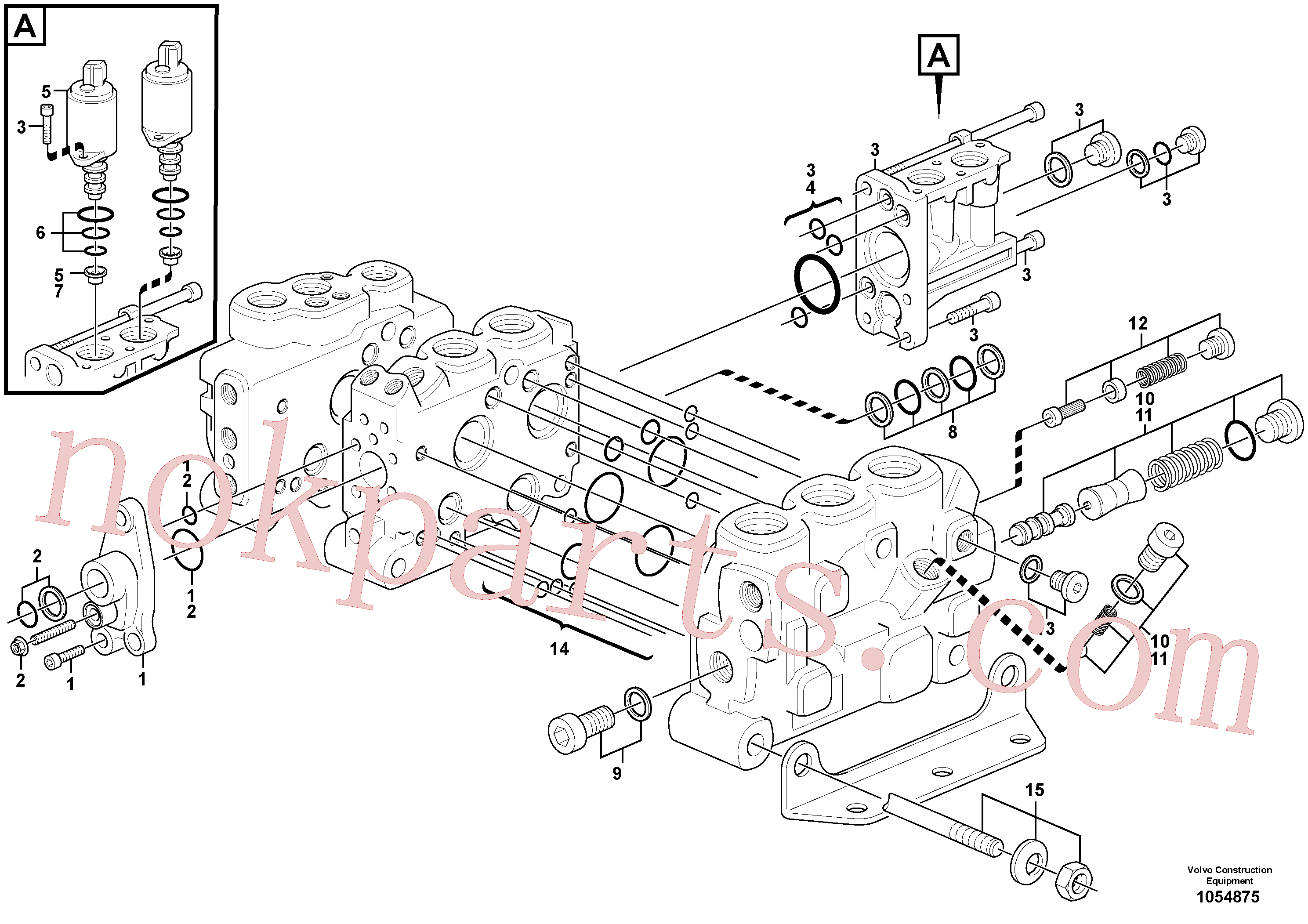 VOE15165977 for Volvo Control valve(1054875 assembly)