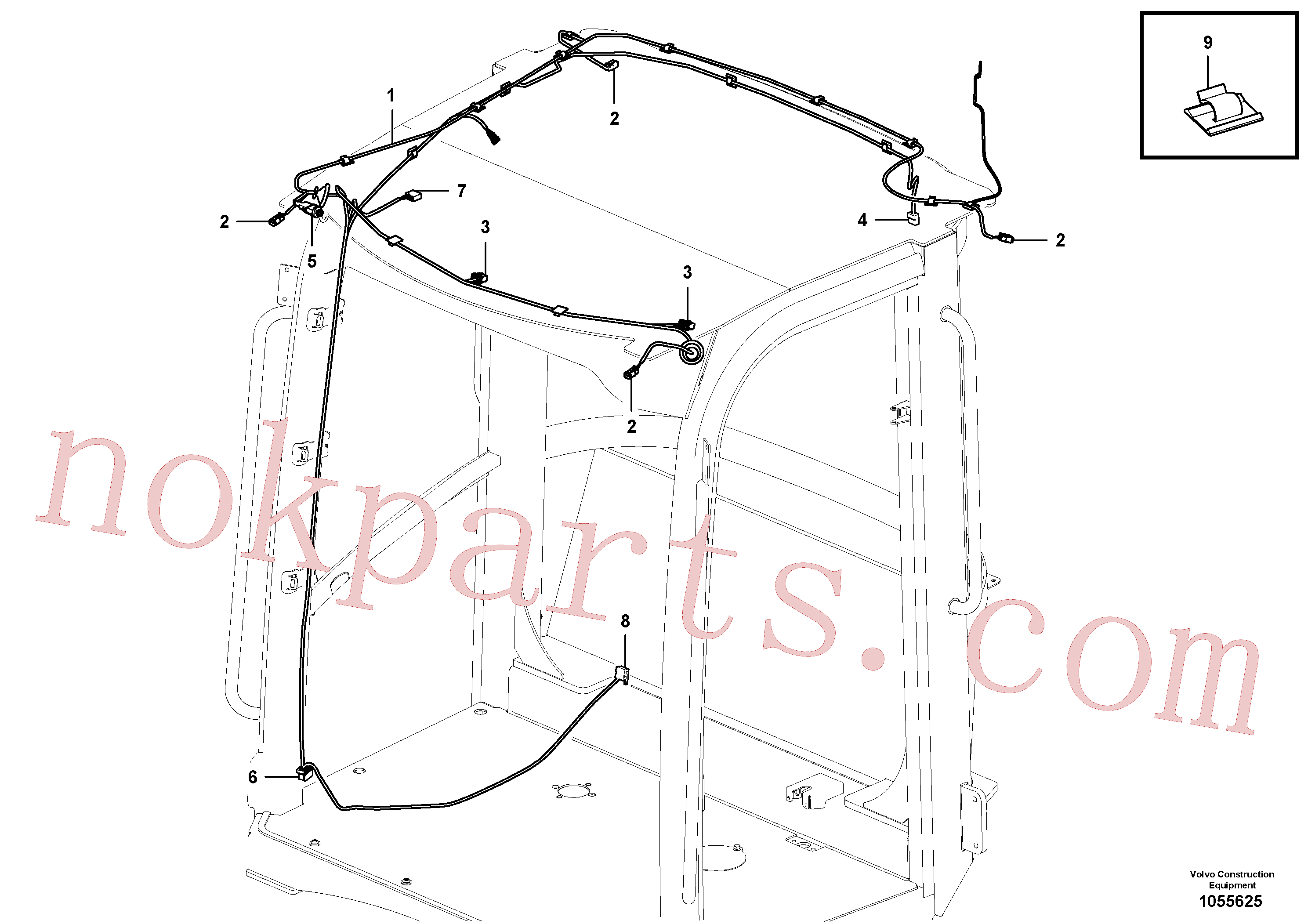 VOE11305436 for Volvo Cable harness, ceiling(1055625 assembly)