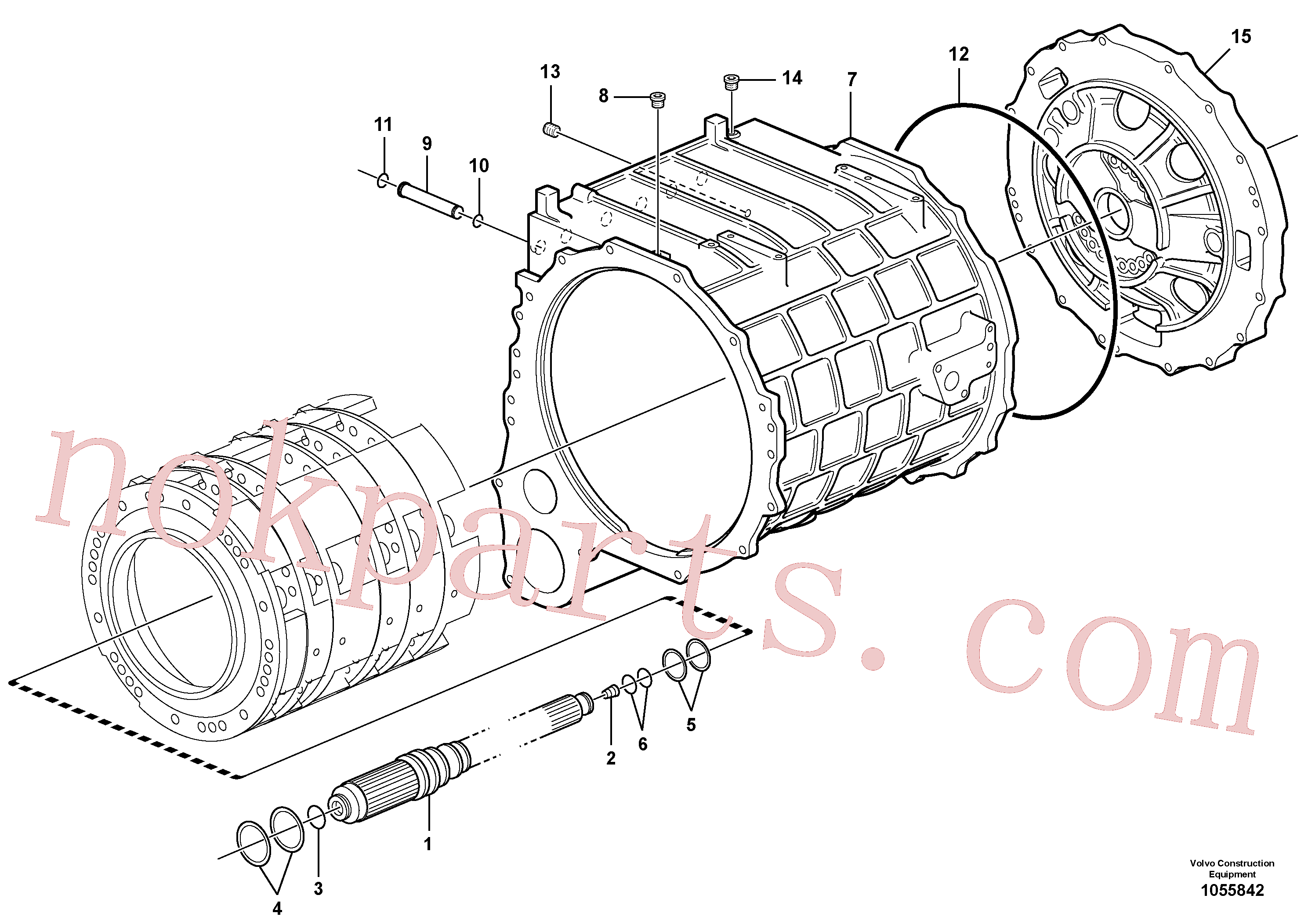 VOE15175184 for Volvo Clutch body(1055842 assembly)