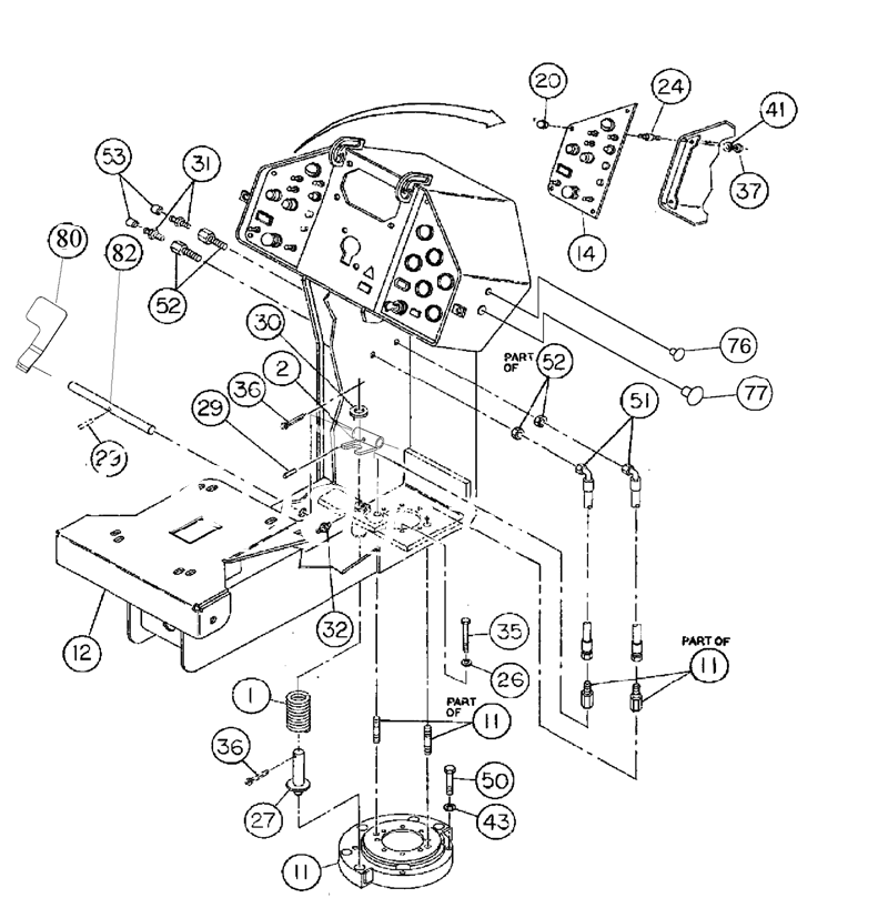 RM96721873 for Volvo Console Installation(1055870 assembly)