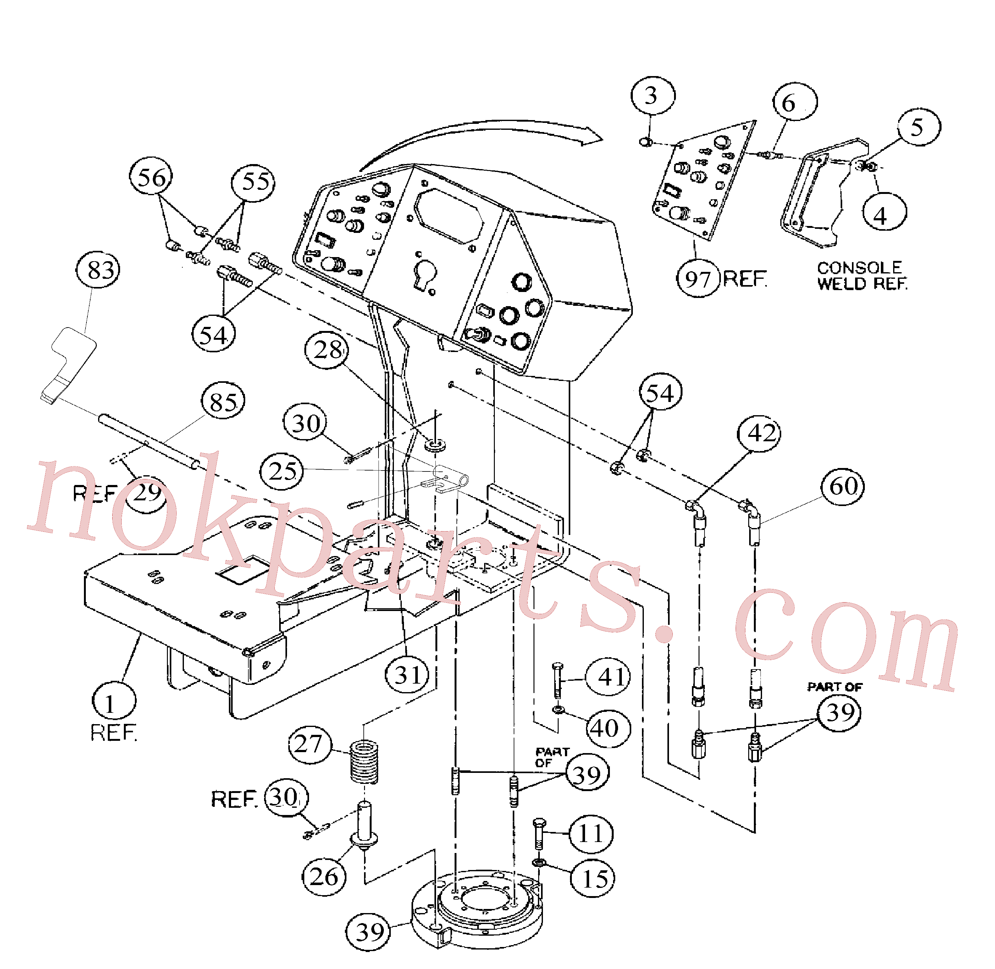 RM96721873 for Volvo Console Installation(1055965 assembly)