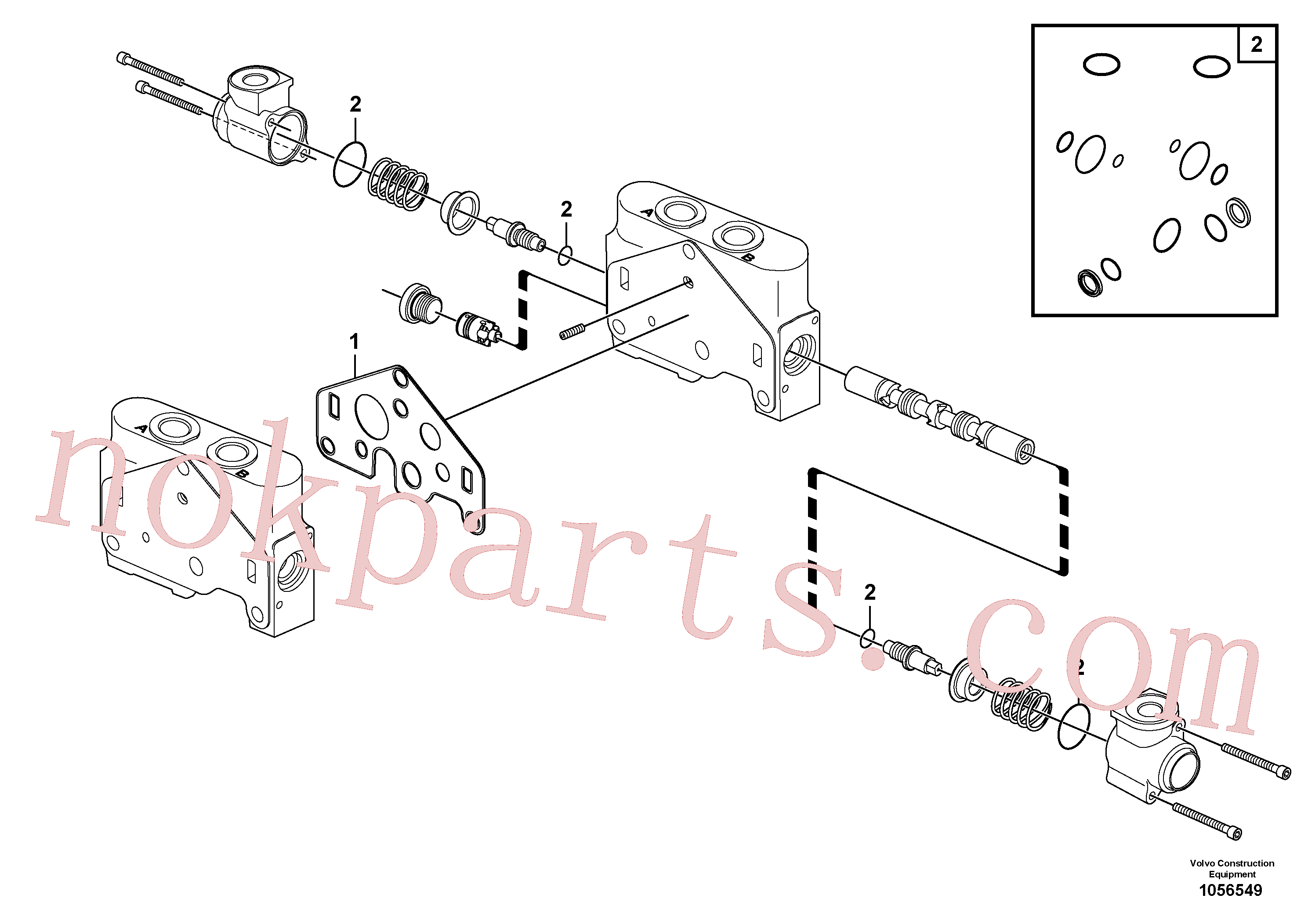 VOE15182858 for Volvo Valve section(1056549 assembly)