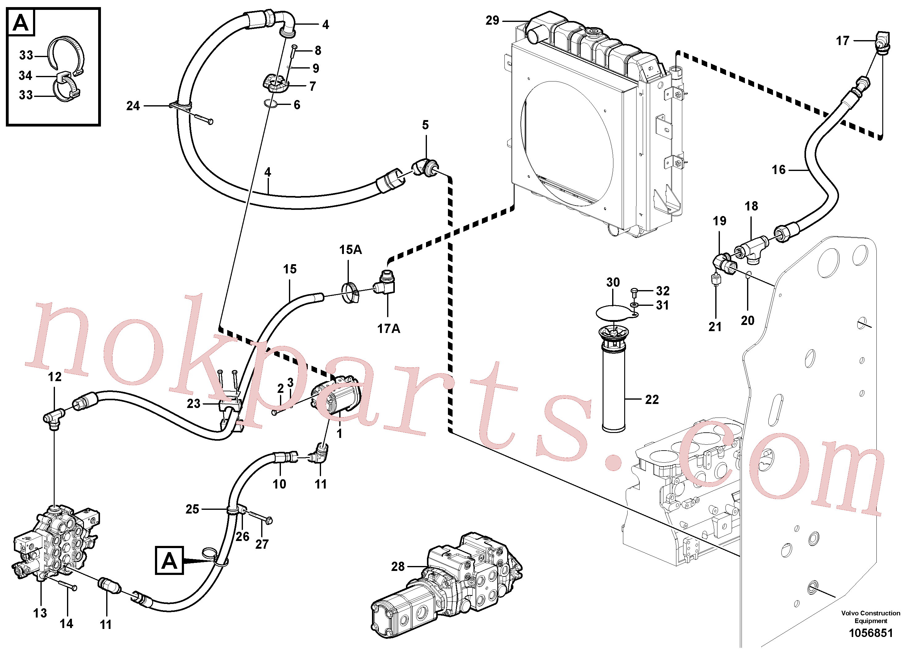 VOE965182 for Volvo Supply/return and Cooling Circuits(1056851 assembly)