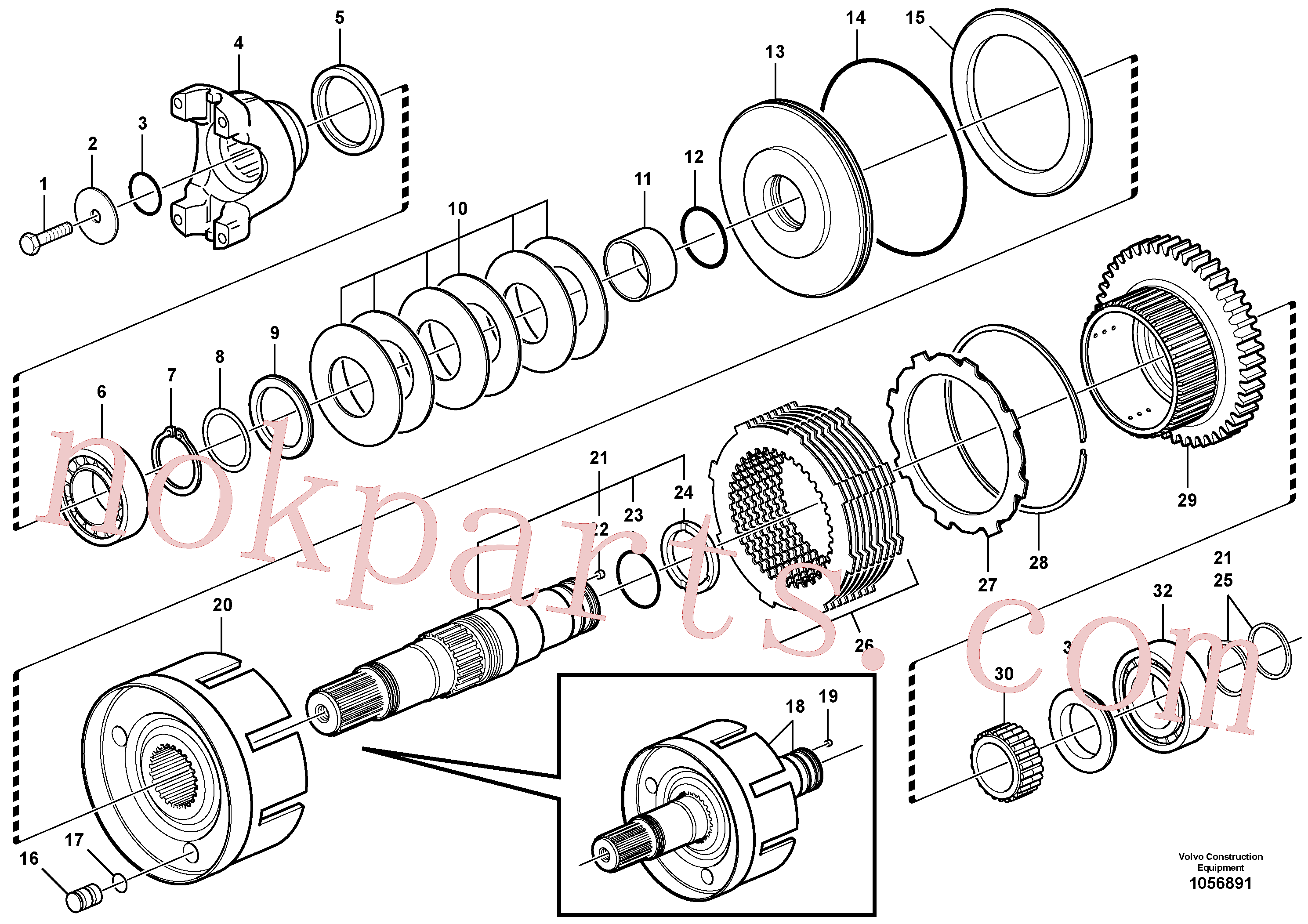 VOE11712469 for Volvo Hydraulic clutch, 4wd(1056891 assembly)